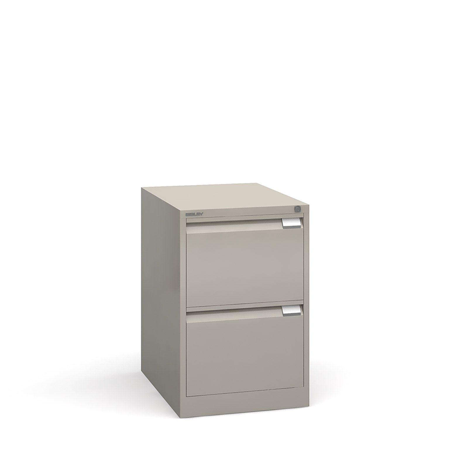 Bisley 2 drawer BS filing cabinet 711mm - goose grey