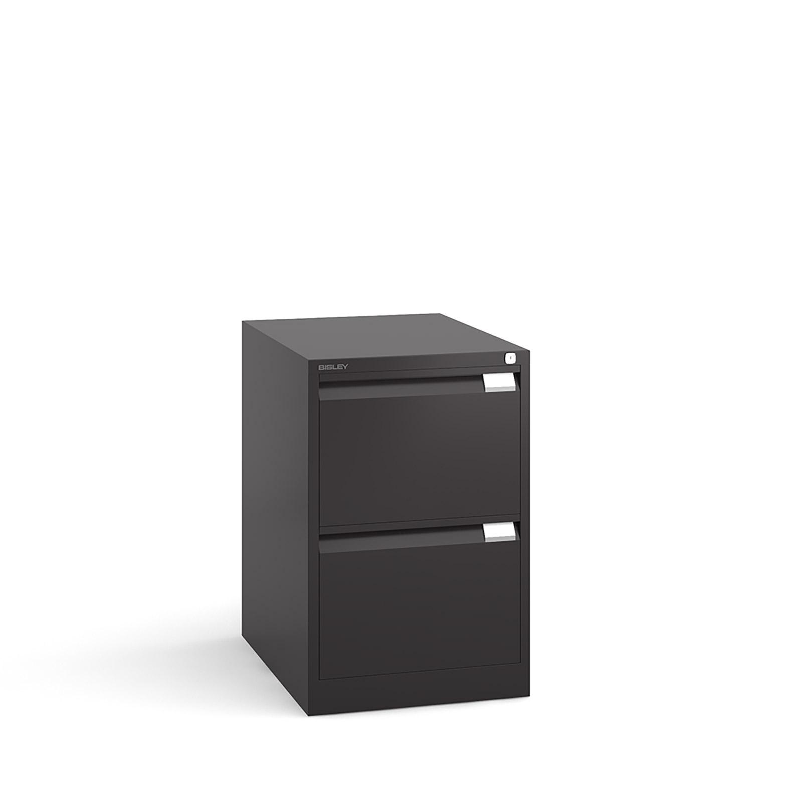 Bisley 2 drawer BS filing cabinet 711mm - black