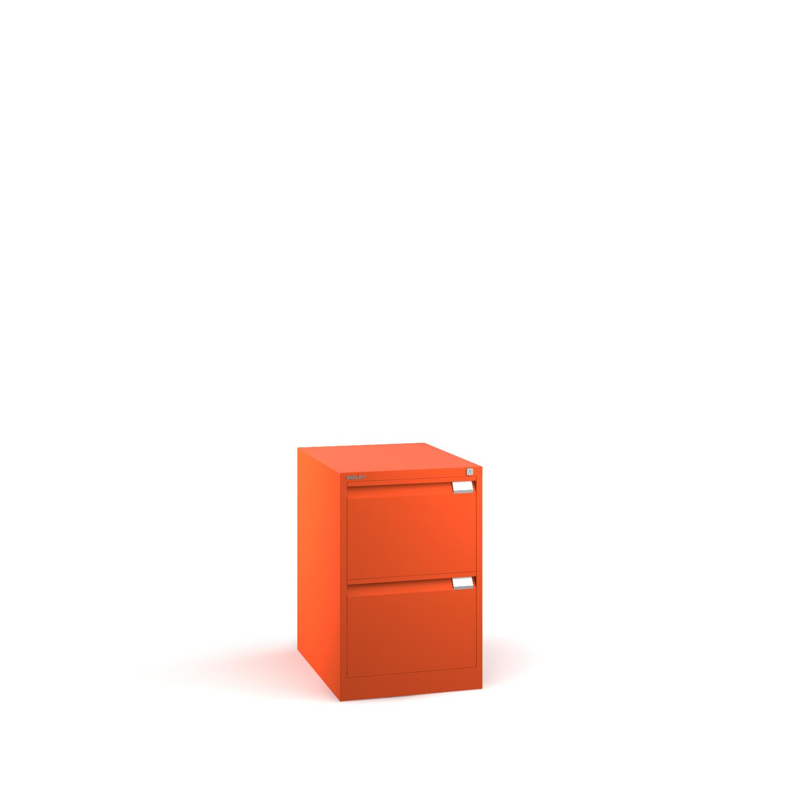 Bisley 2 drawer BS filing cabinet 711mm - orange