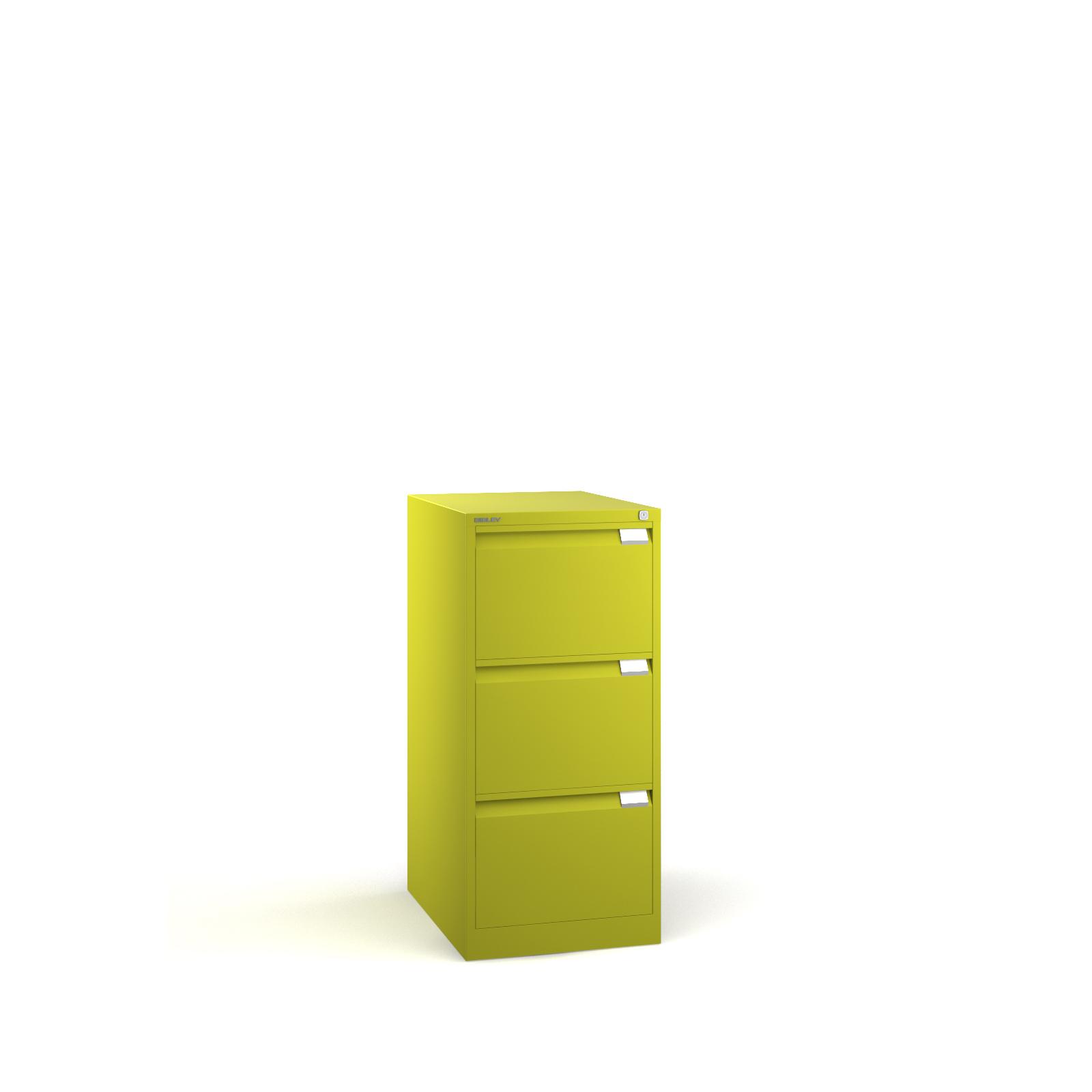 Bisley 3 drawer BS filing cabinet 1016mm - green