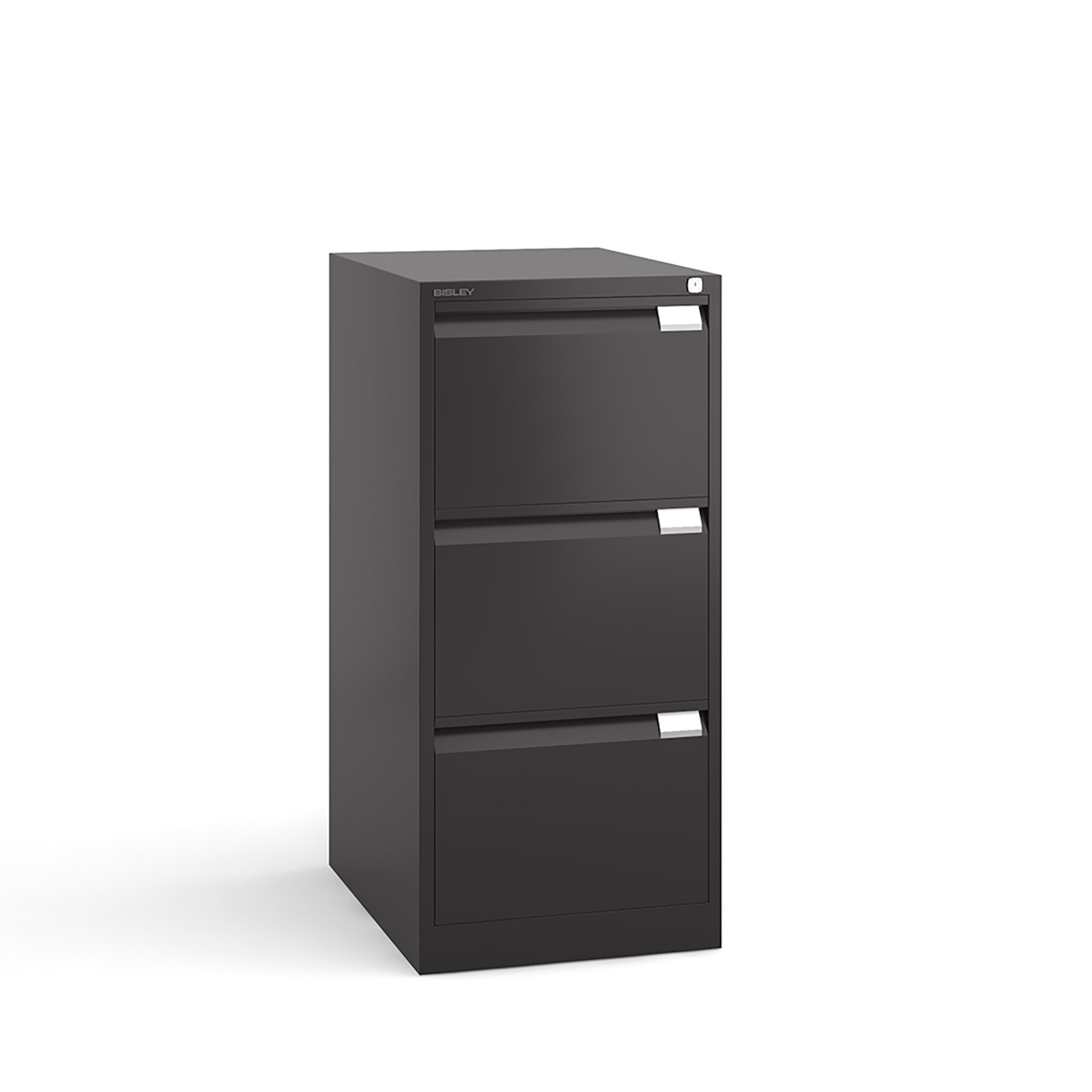 Bisley 3 drawer BS filing cabinet 1016mm - black