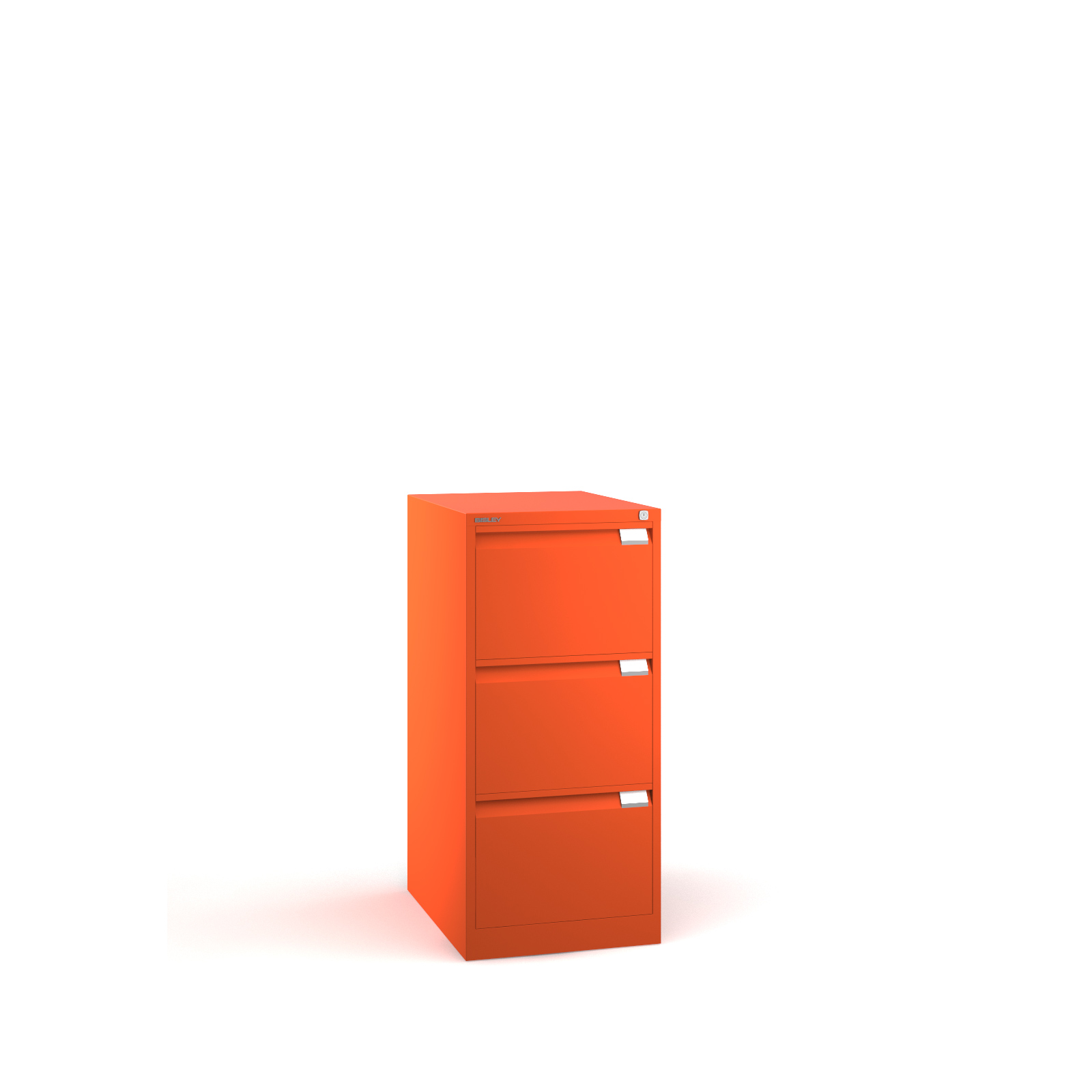 Bisley 3 drawer BS filing cabinet 1016mm - orange