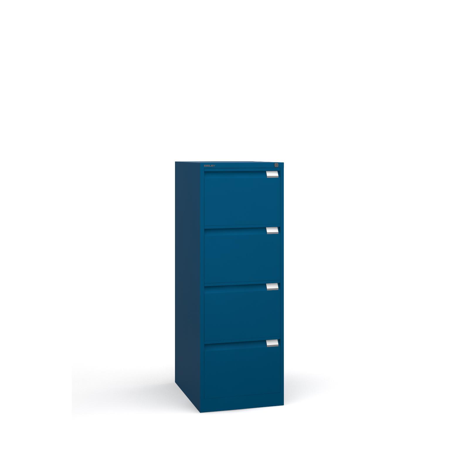 Bisley 4 drawer BS filing cabinet 1321mm - blue