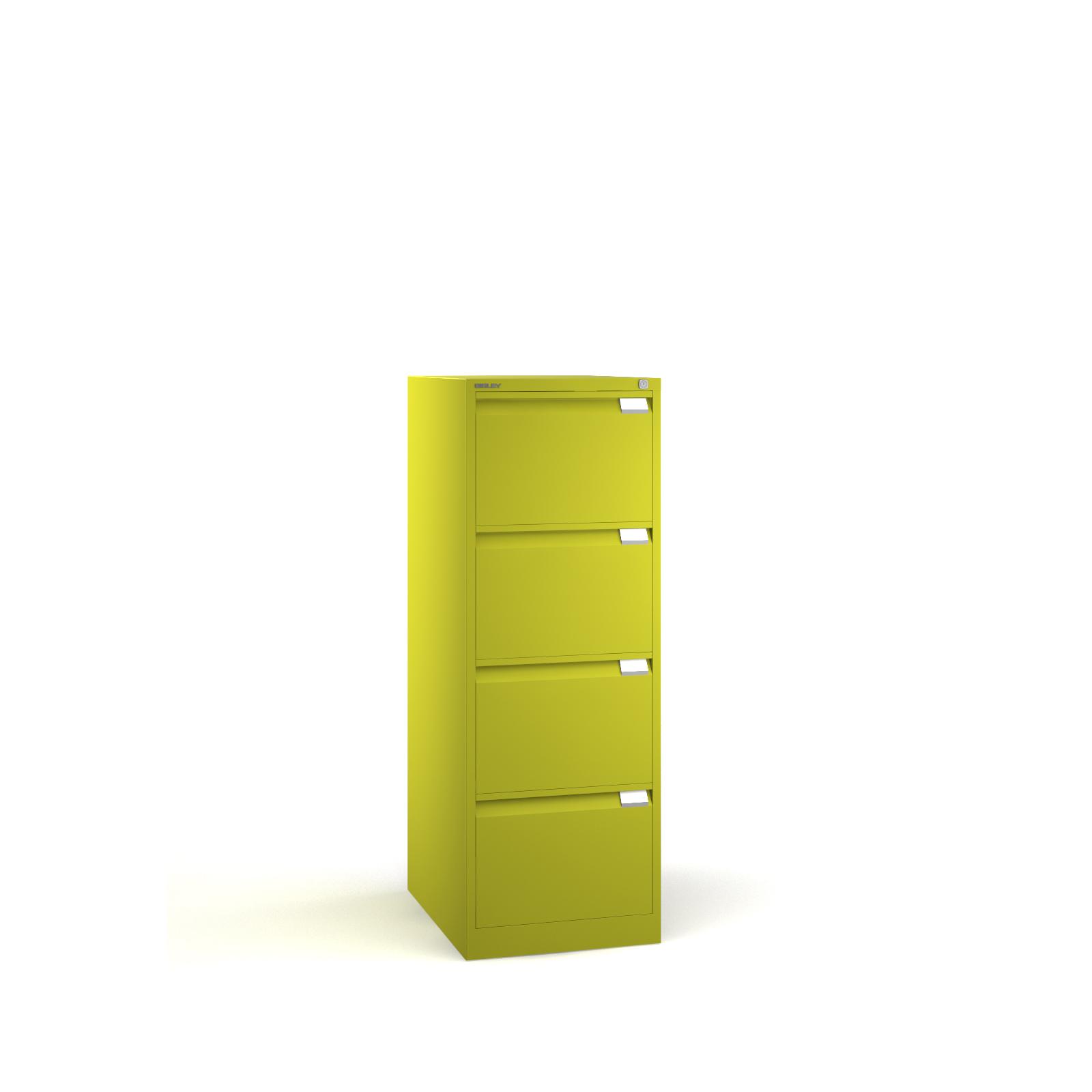 Bisley 4 drawer BS filing cabinet 1321mm - green