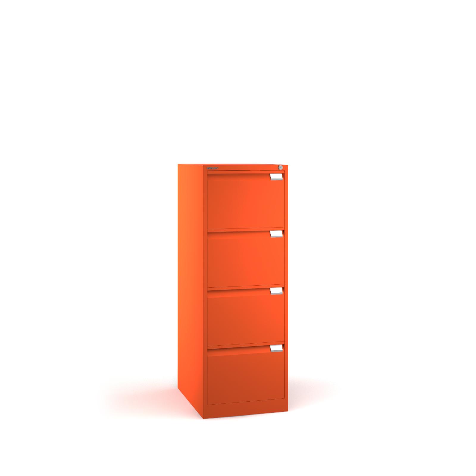 Bisley 4 drawer BS filing cabinet 1321mm - orange