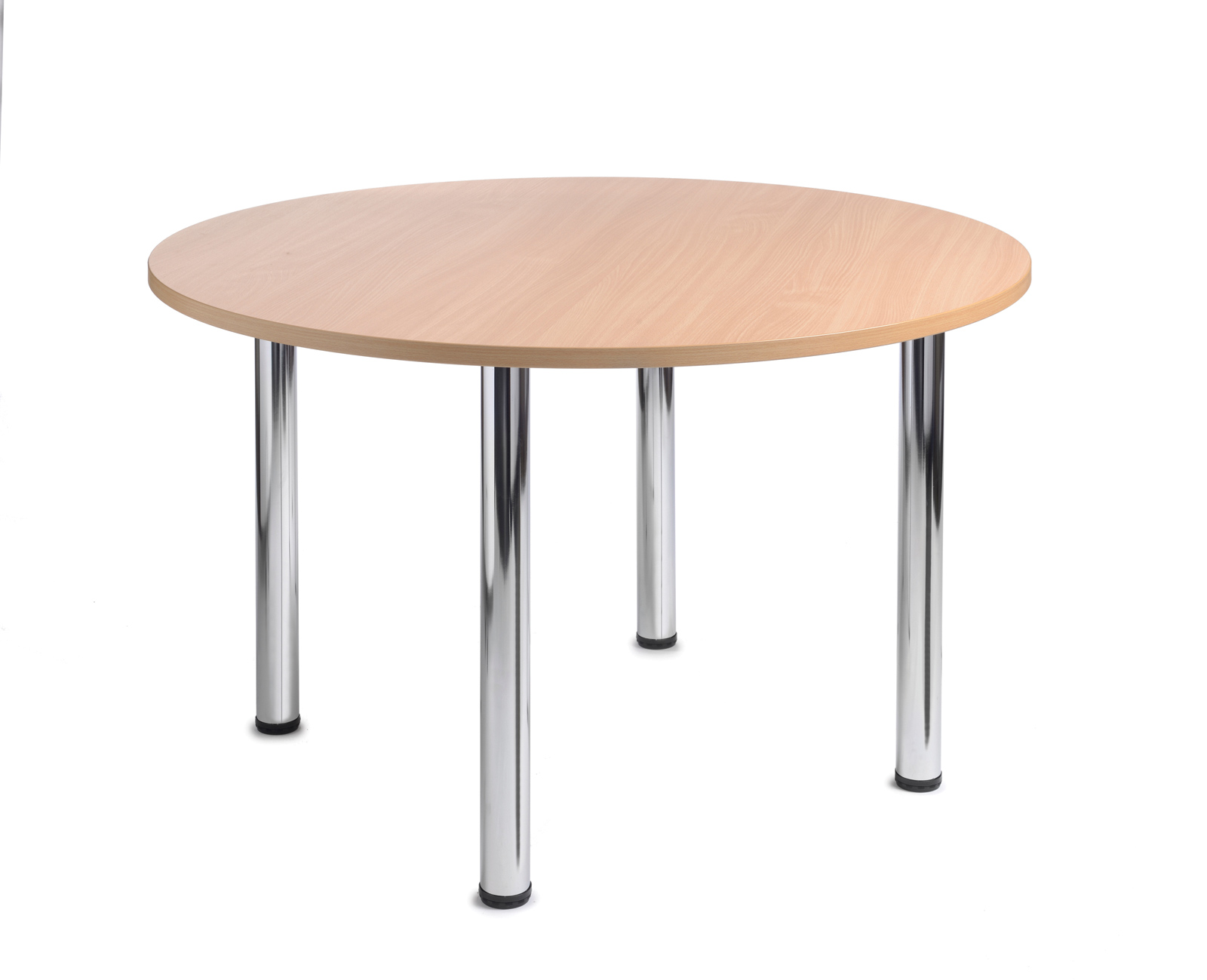 Turin Round Table With Chrome Legs 1200mm Beech