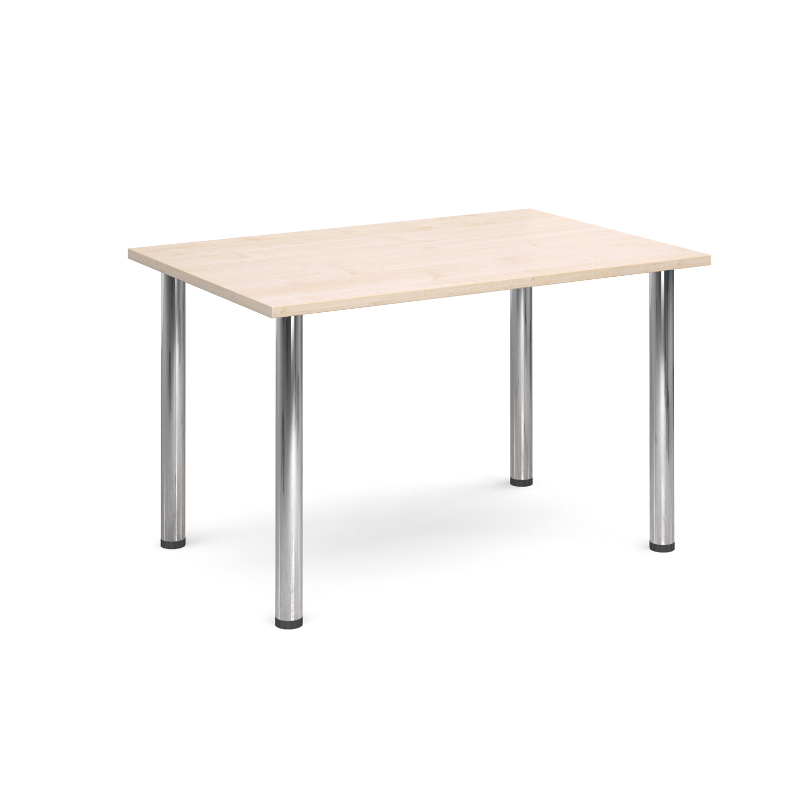 Rectangular deluxe chrome radial leg table 1300mm x 800mm - maple