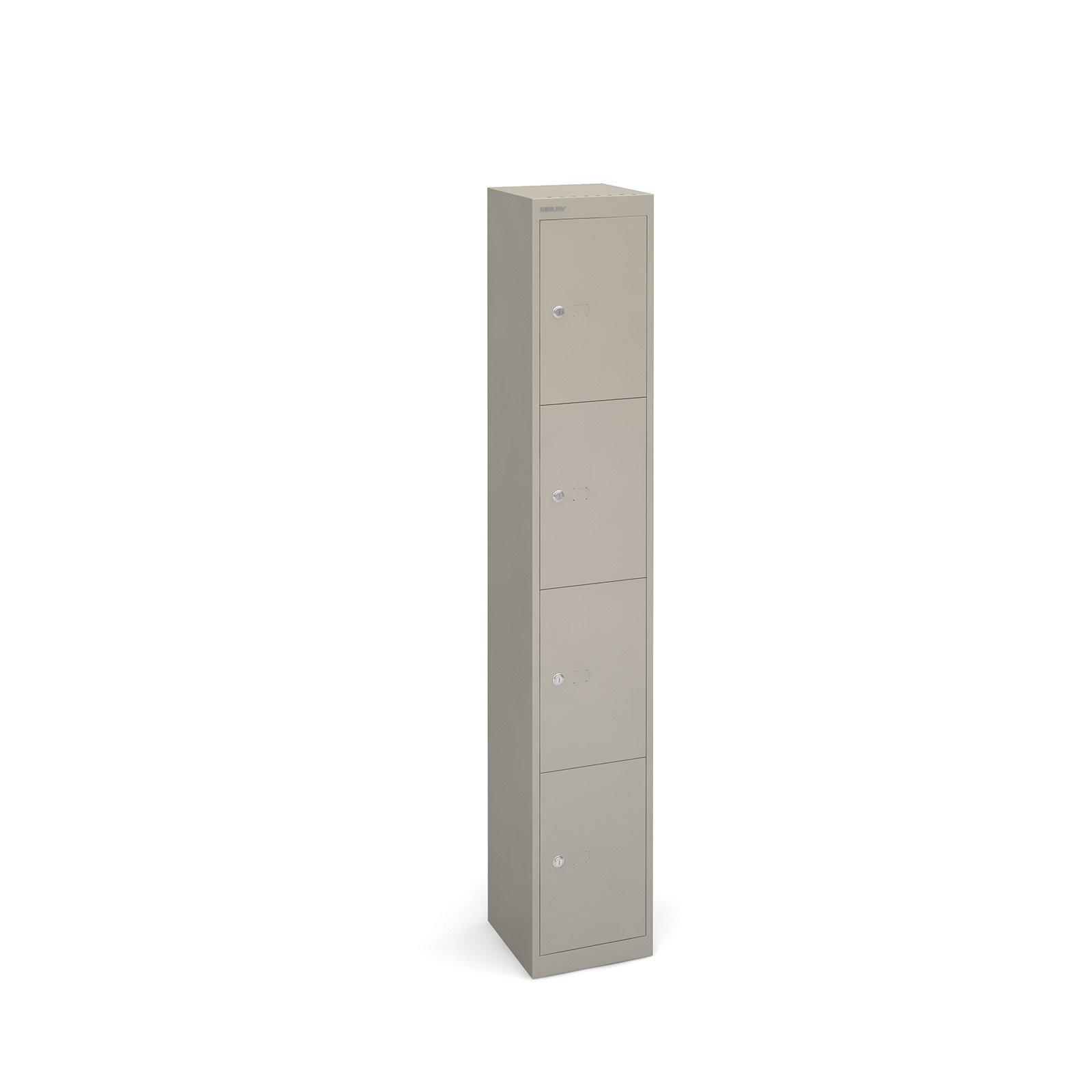 Bisley Lockers With 4 Doors 305mm Deep Grey