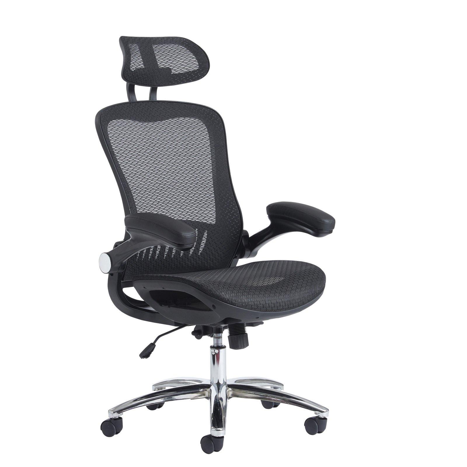 Curva high back mesh chair - black