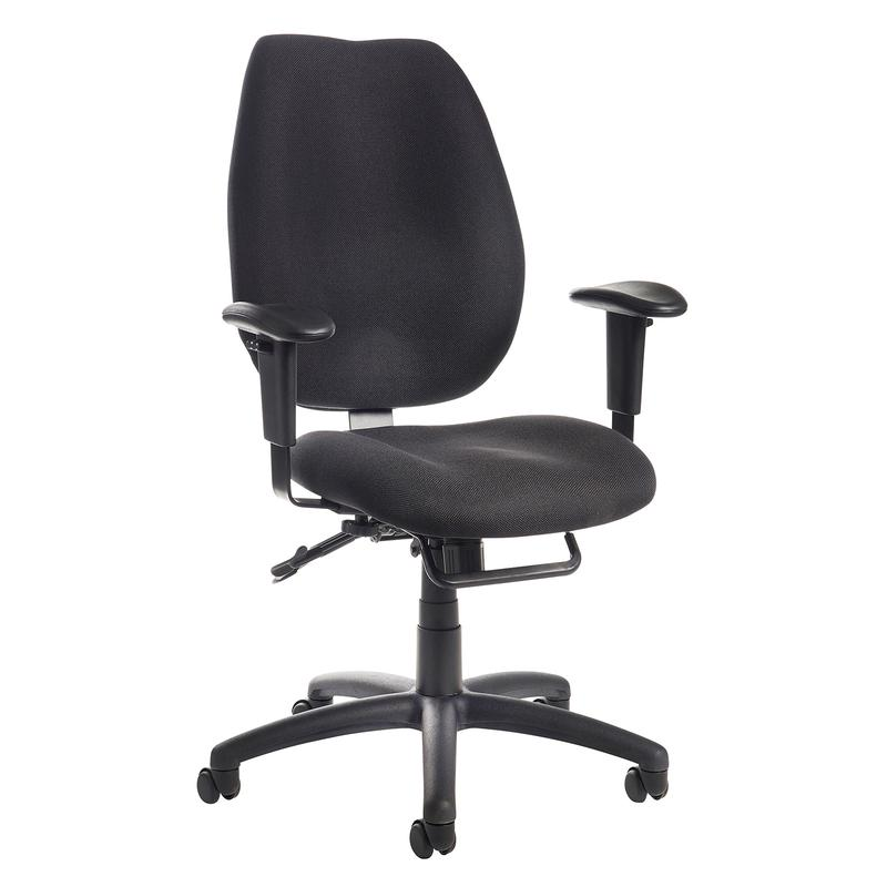 Cornwall multi functional operator chair - black