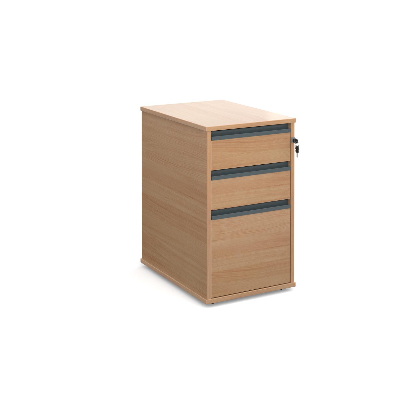Maestro desk end 3 drawer pedestal 600mm deep - beech