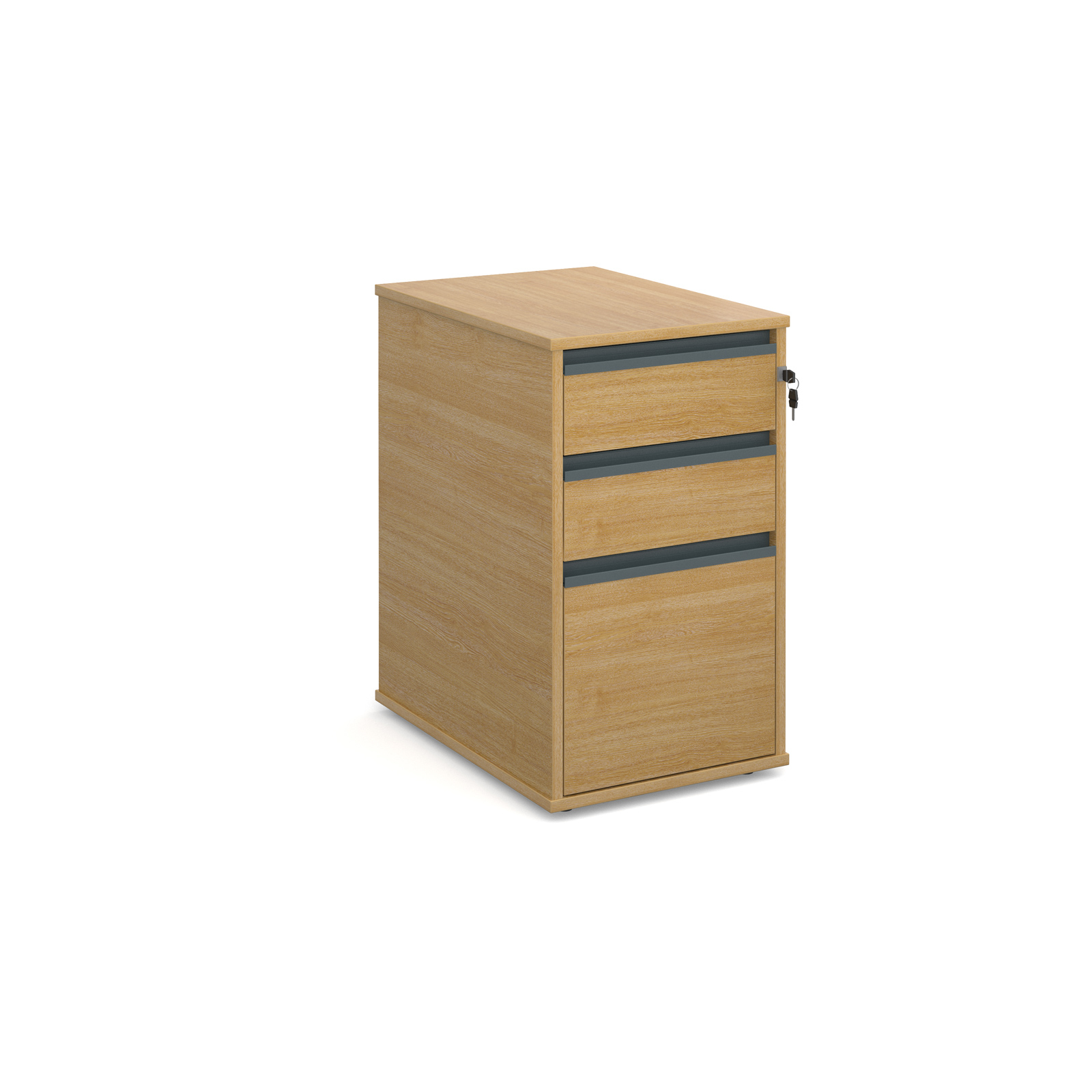Image for 3 Drw Desk End Ped - Oak