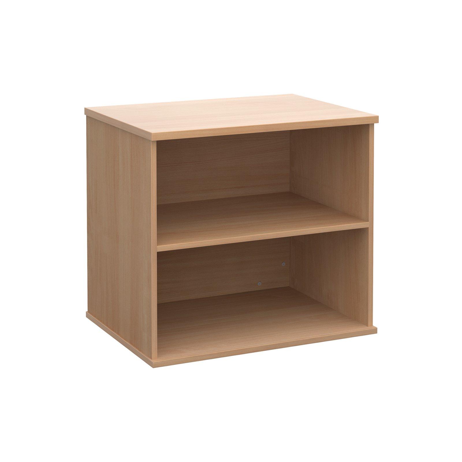 Dams Desk High Open Front Bookcase With 1 Shelf Beech