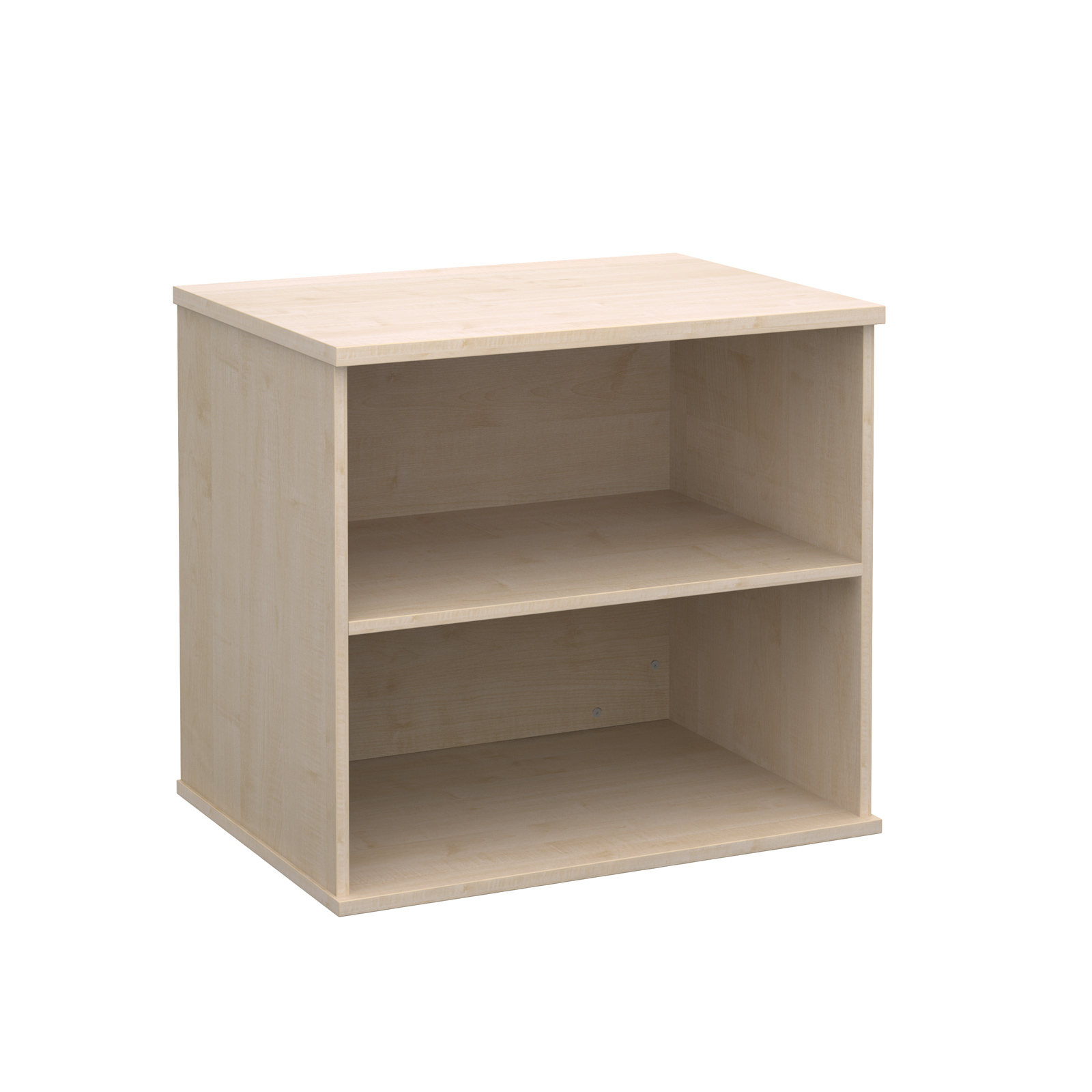 Deluxe desk high bookcase 600mm deep - maple