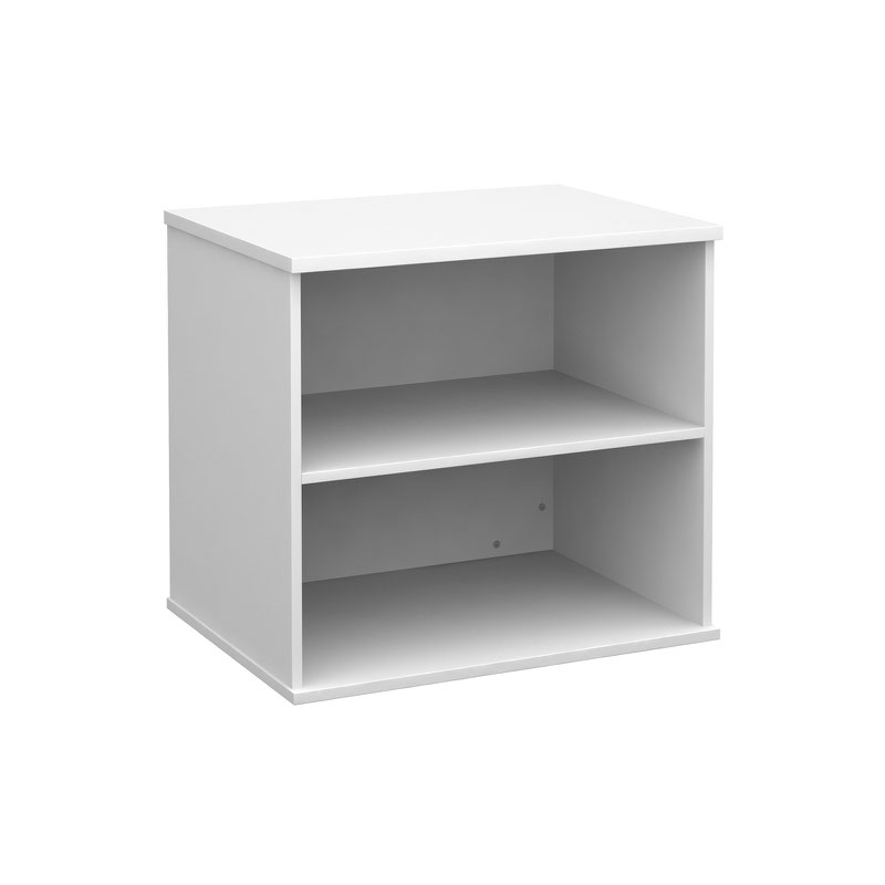 Deluxe desk high bookcase 600mm deep - white