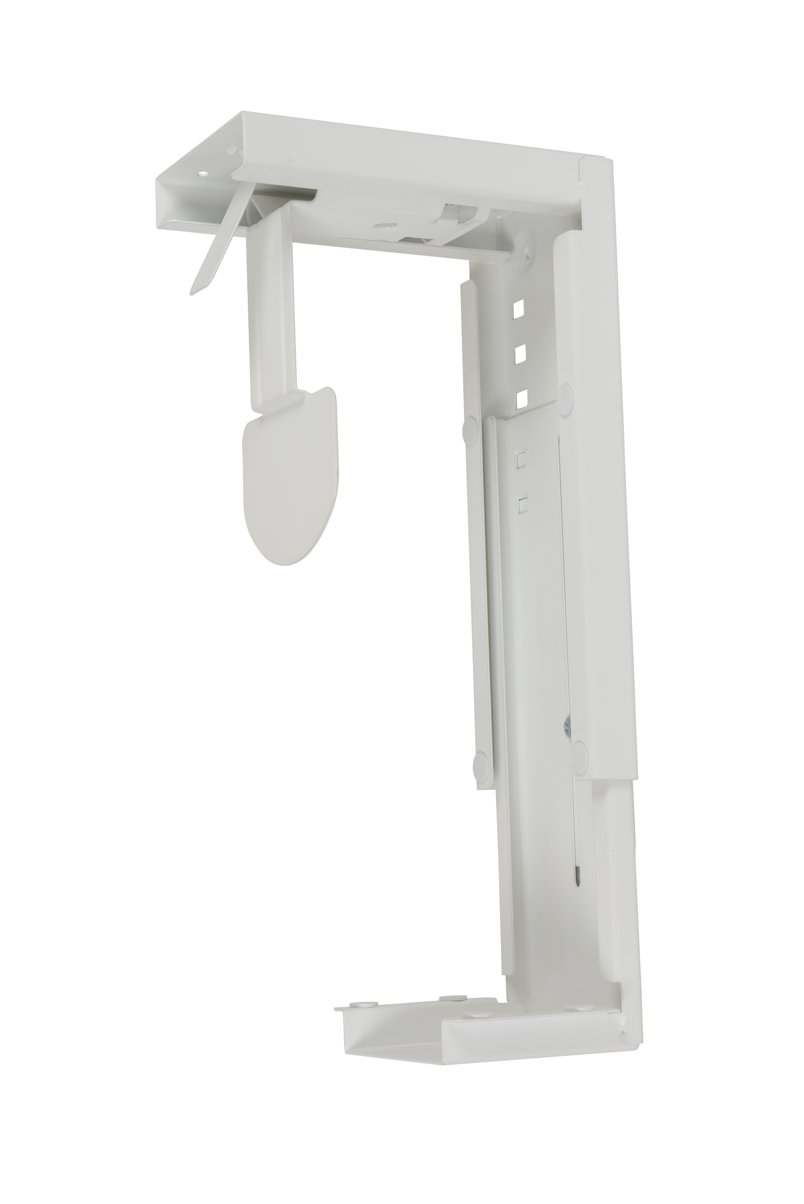 Large under desk CPU holder - white