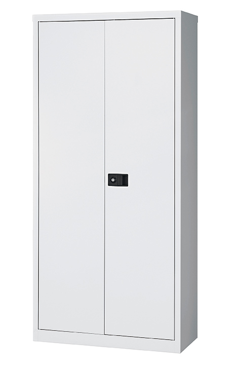 Contract Tall Cupboard With 3 Shelves Grey