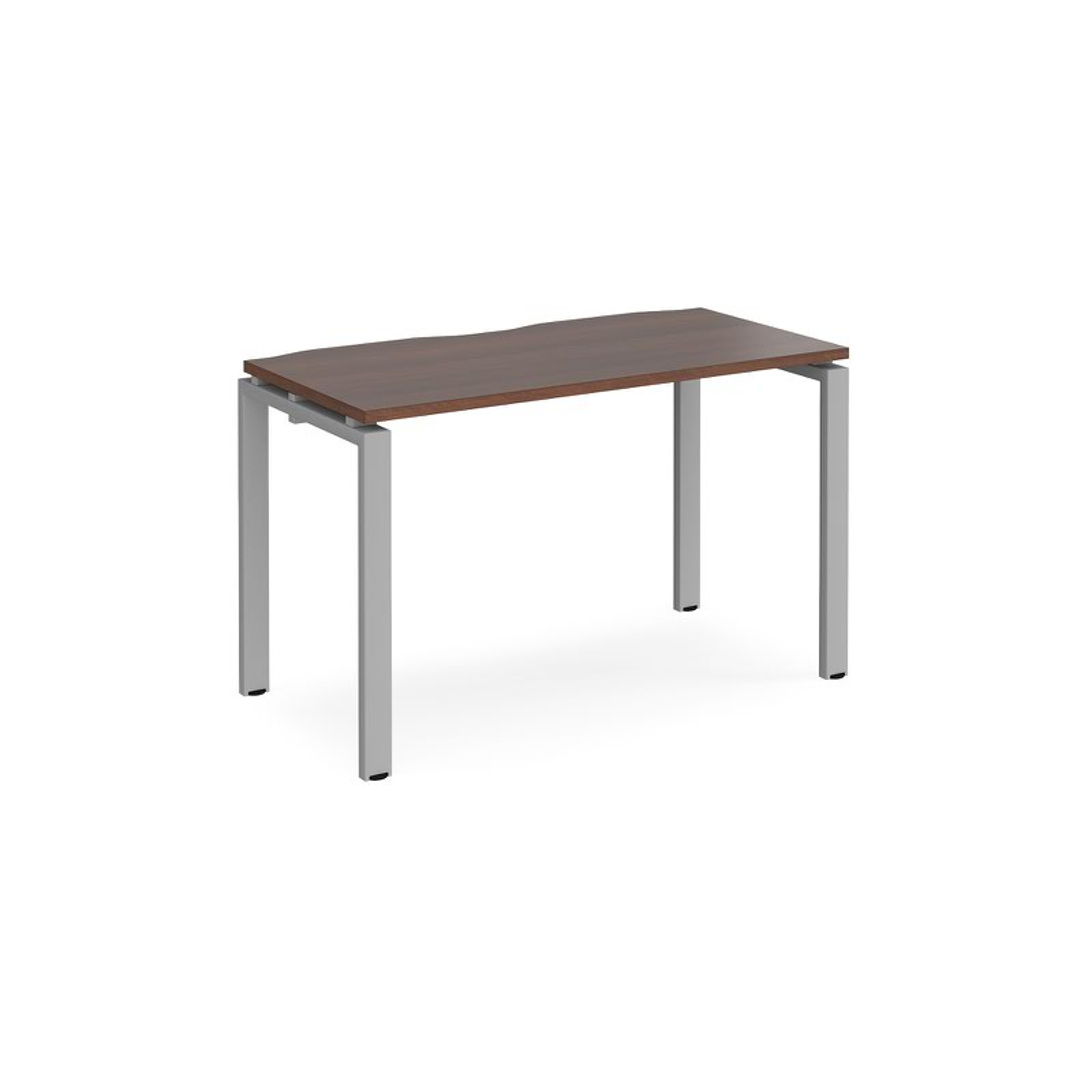 Image for Adapt II Bench System Starter Desk 1200x600mm Silver/Walnut
