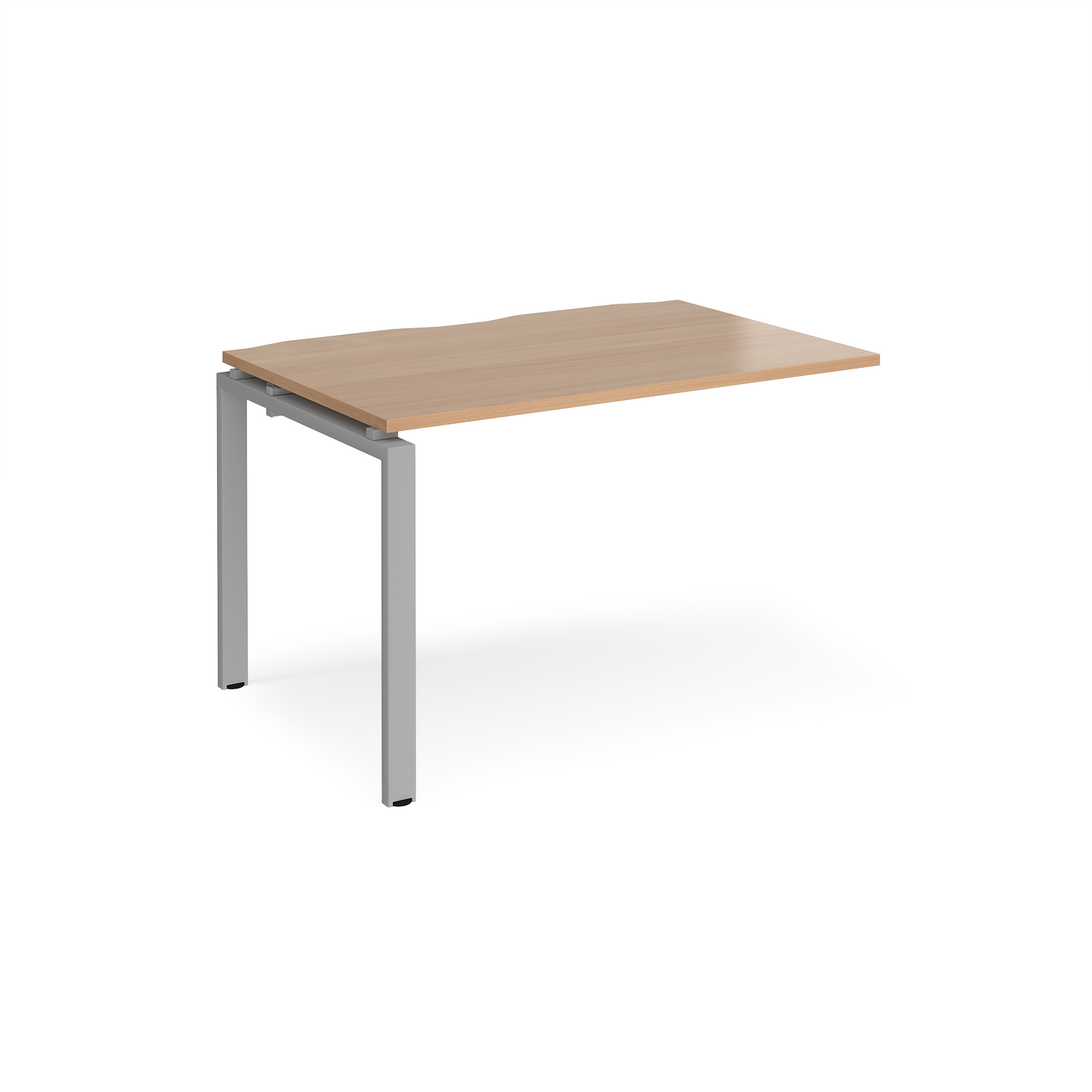 Image for Adapt II Add On Unit Single 1200x800mm Silver Frame Beech Top