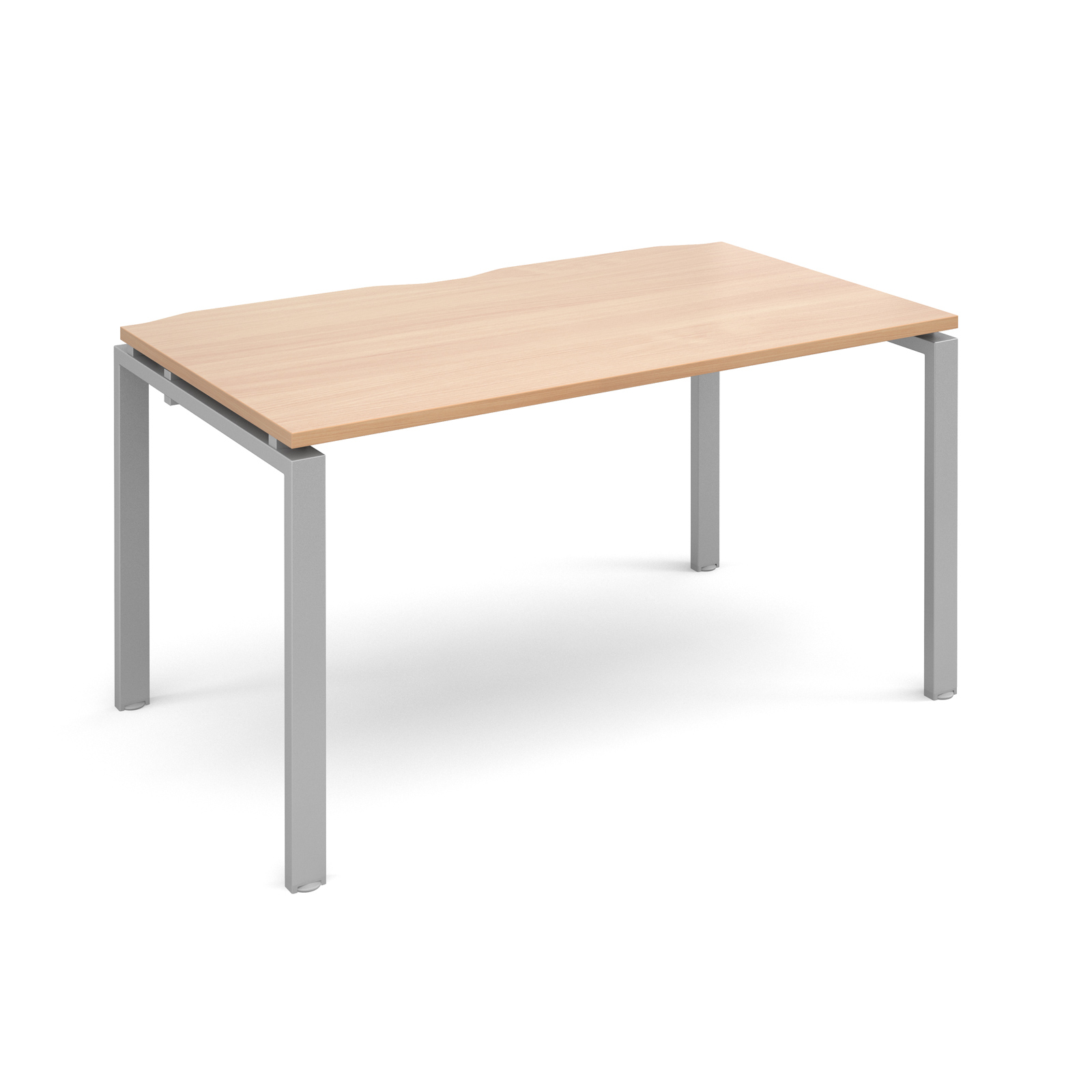 Image for Adapt II Starter Unit Single 1400x800mm Silver Frame Beech Top