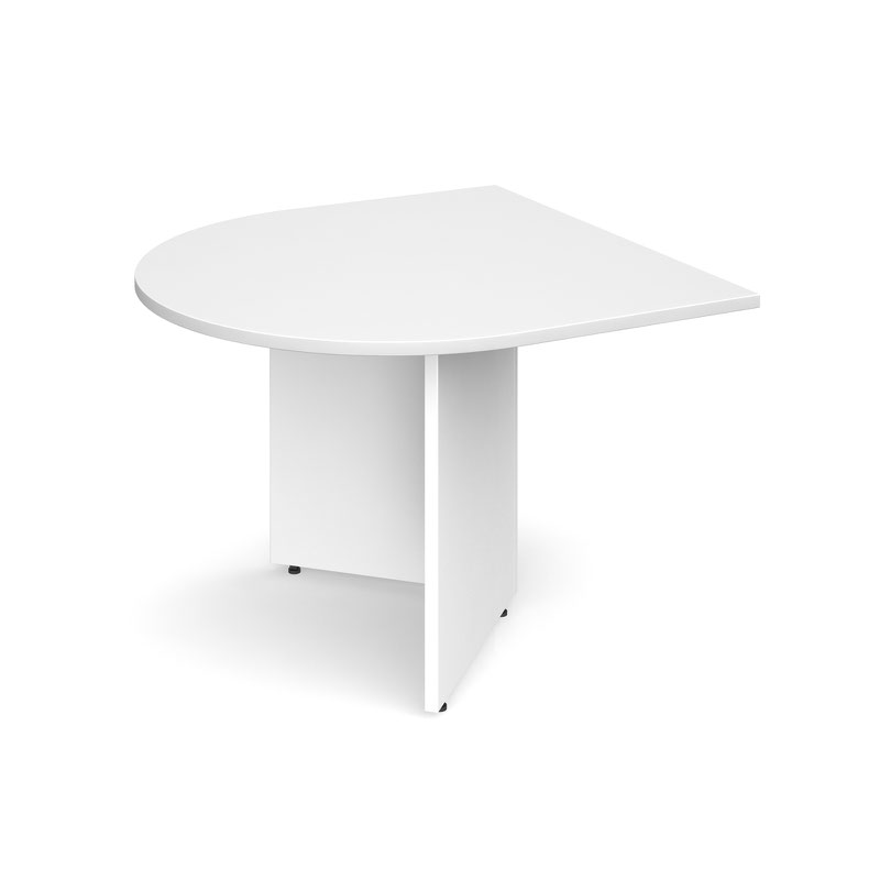 Image for Arrow Head Leg Radial Extension Table 1000x1000mm White