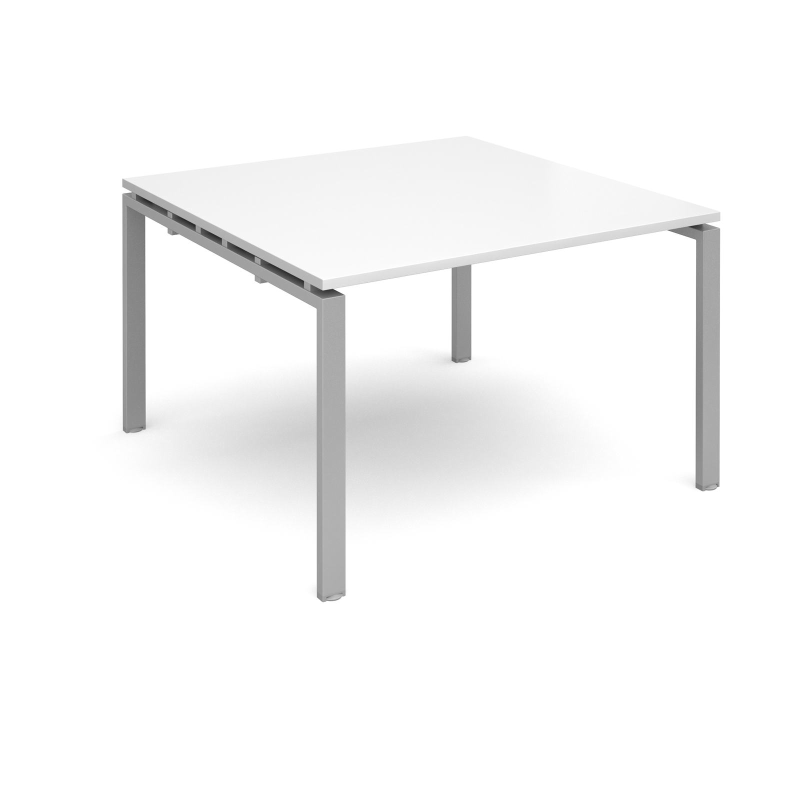 Image for Adapt II Boardroom Table Starter Unit 1200x1200mm Silver Frame White Top