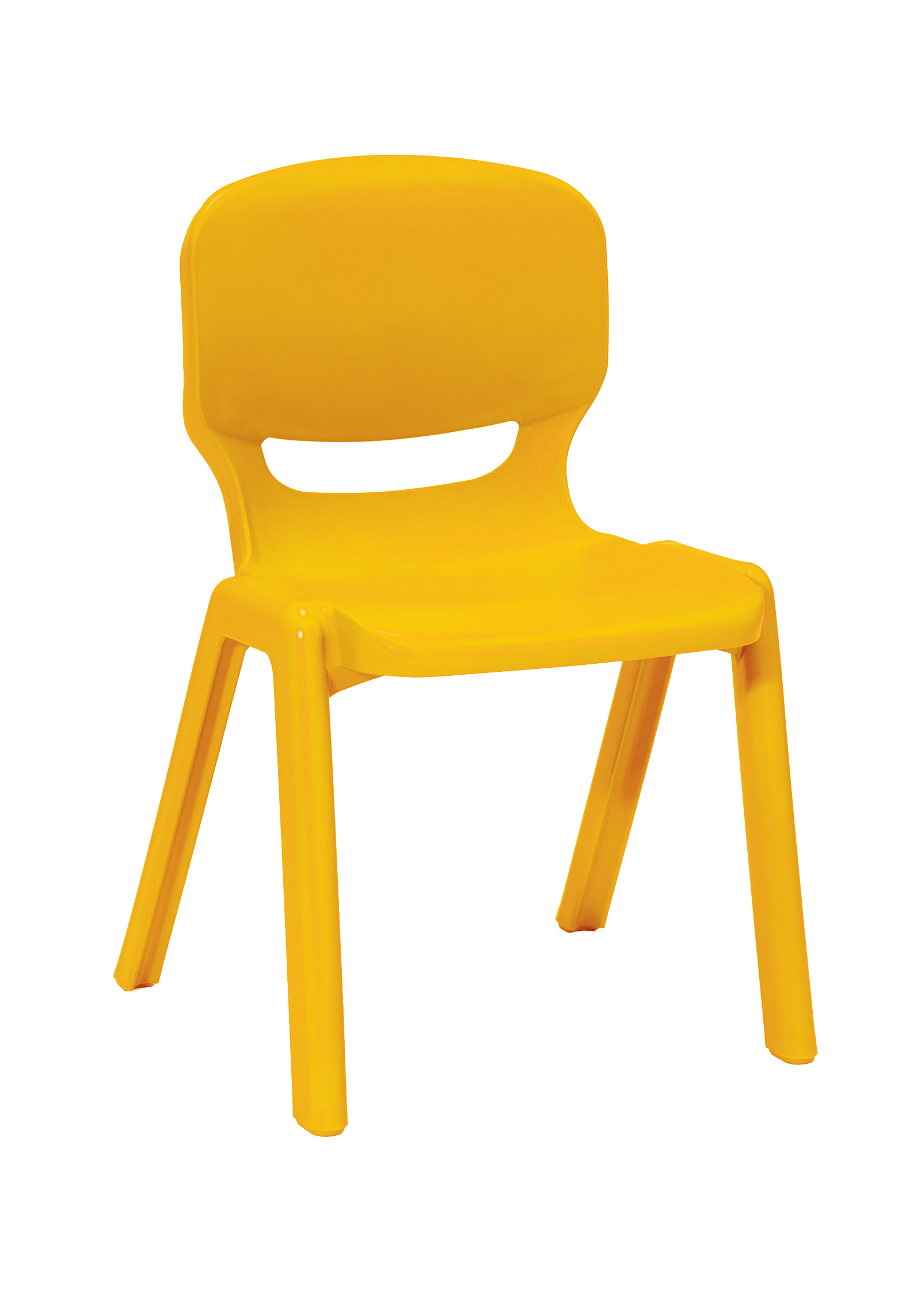 Ergos Versatile One Piece Educational Chair For Age 16+ - Yellow