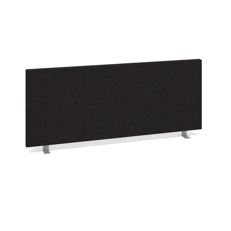 Straight desktop fabric screen 1000mm x 400mm - charcoal