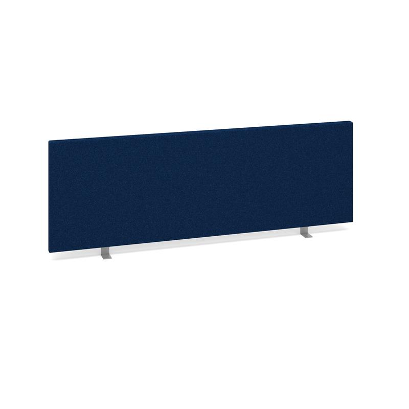Image for Straight Desktop Fabric Screen 1200x400mm Blue