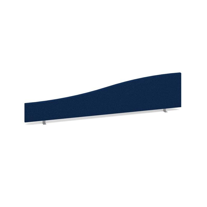 Desk Mounted Screen Wave 1800mm Blue