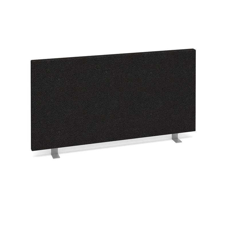 Straight desktop fabric screen 800mm x 400mm - charcoal