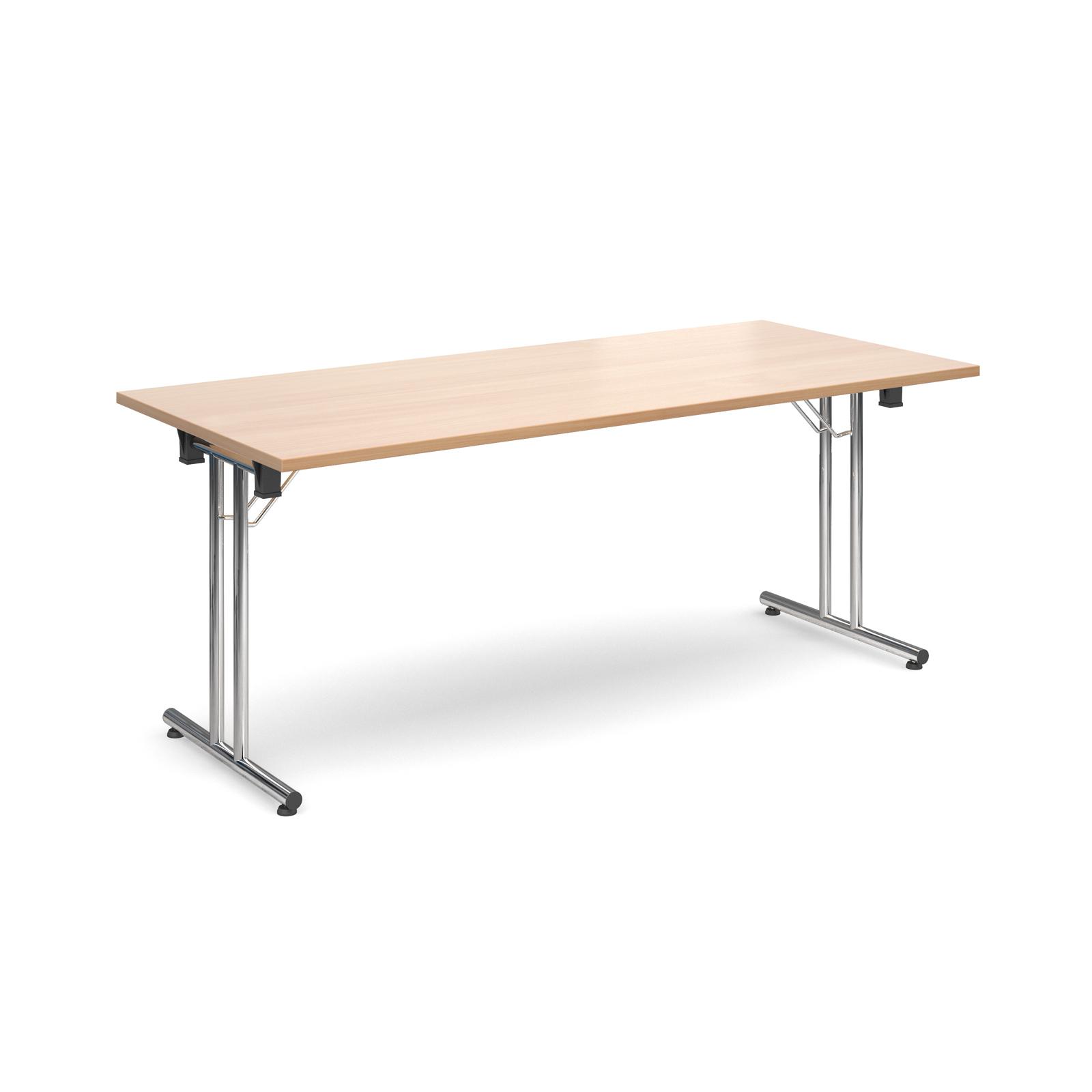 Rectangular deluxe folding leg table 1800mm x 800mm - beech