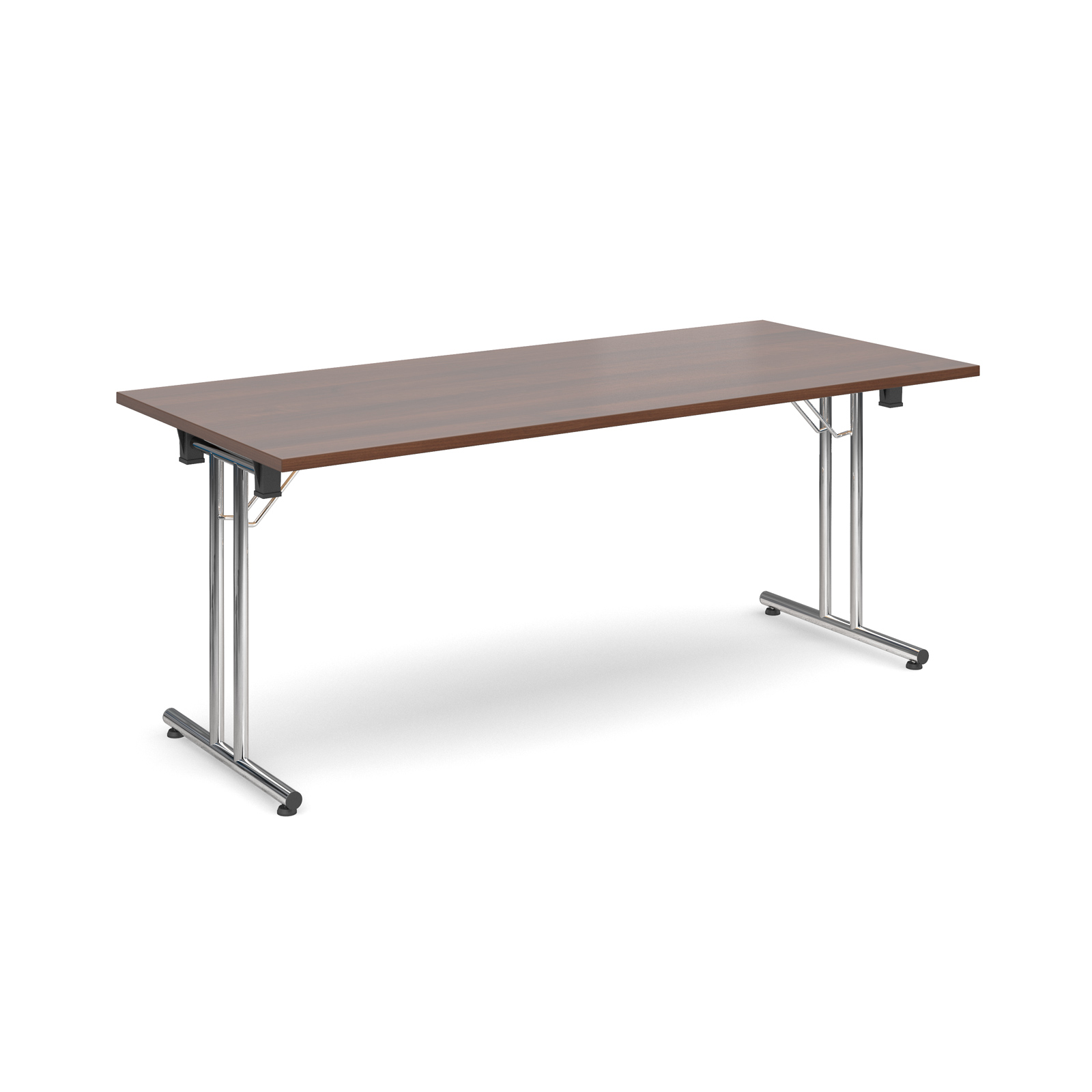 Rectangular deluxe folding leg table 1800mm x 800mm - walnut