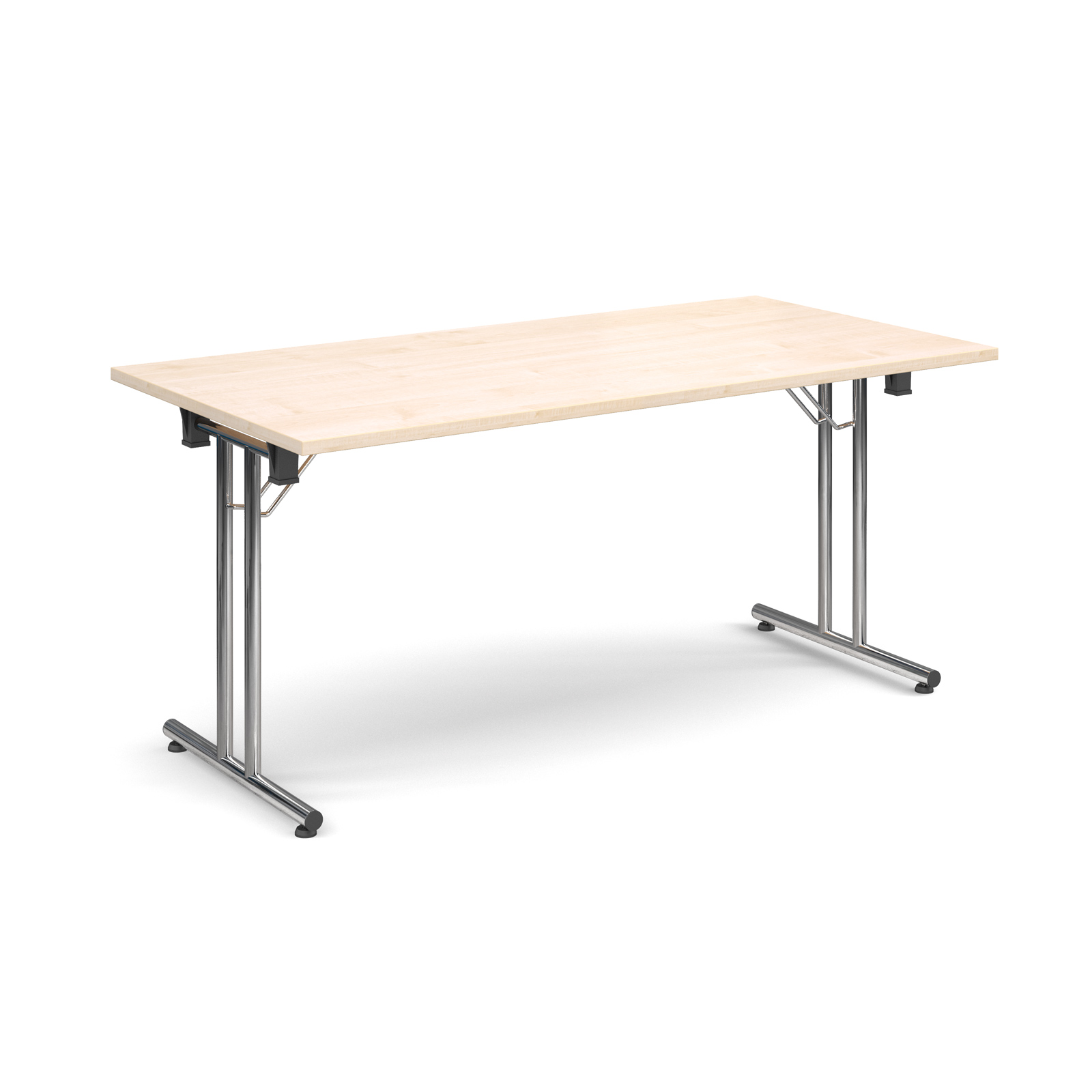 Rectangular deluxe folding leg table 1600mm x 800mm - maple