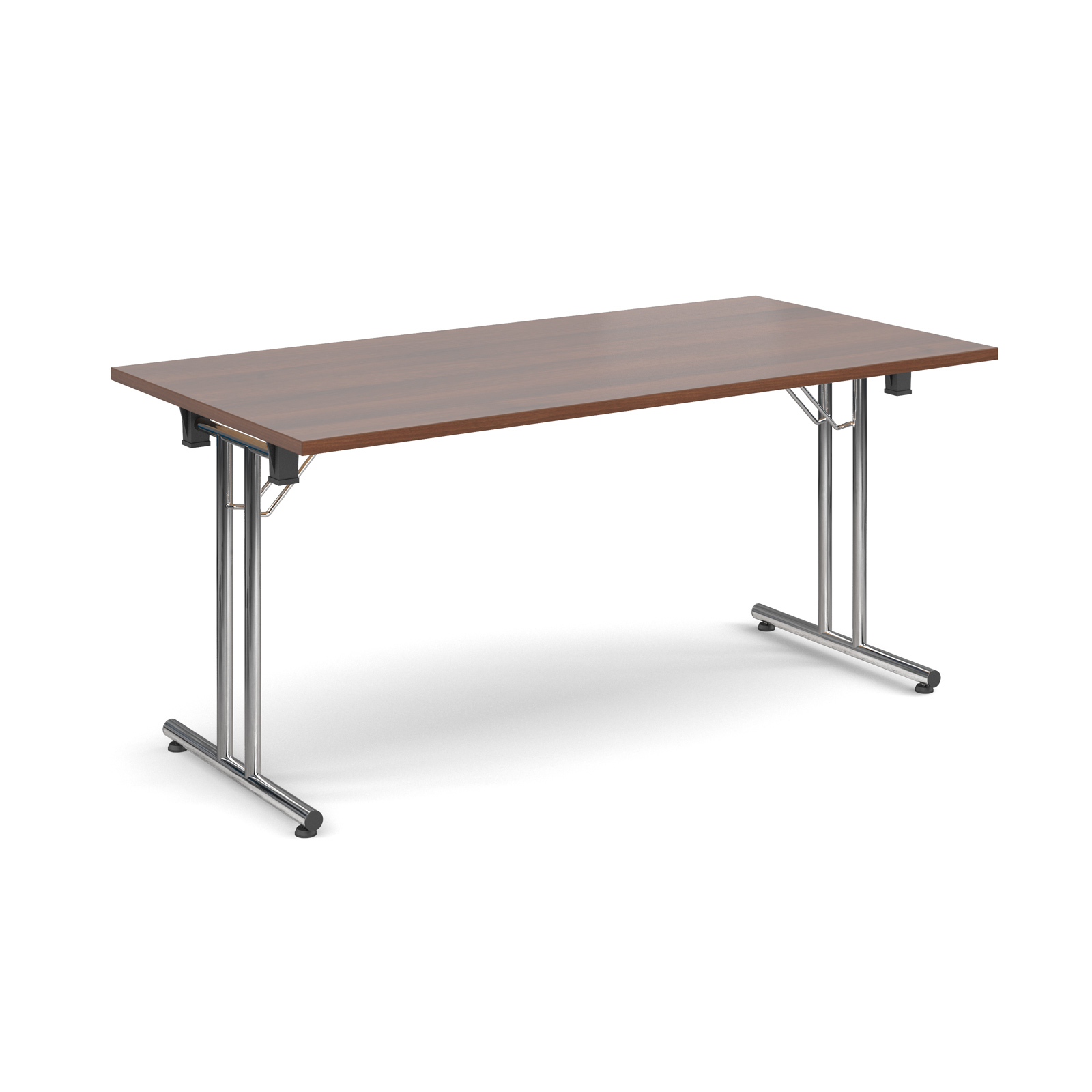Rectangular deluxe folding leg table 1600mm x 800mm - walnut