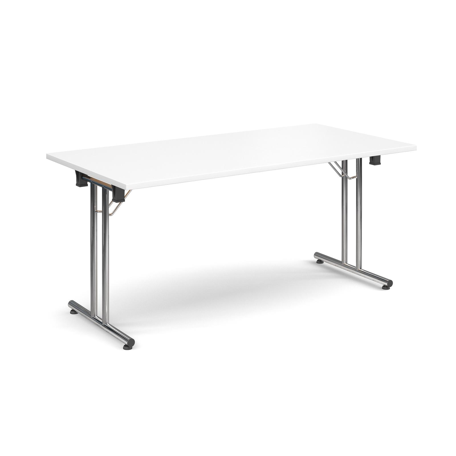 Rectangular deluxe folding leg table 1600mm x 800mm - white