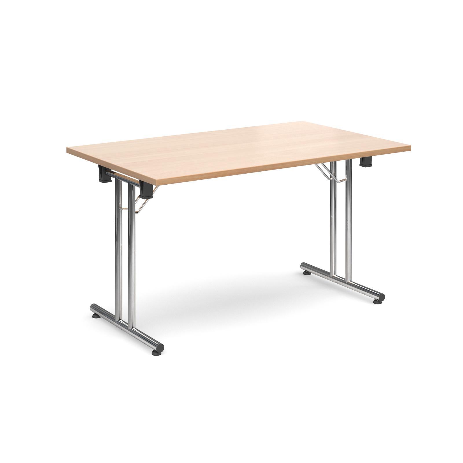 Rectangular deluxe folding leg table 1300mm x 800mm - beech