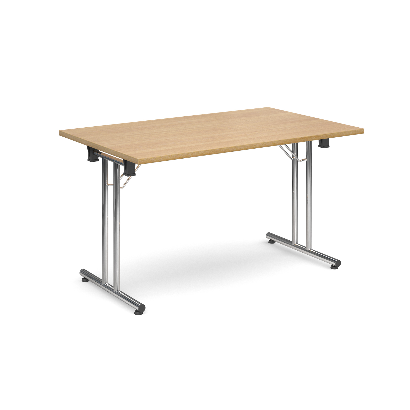 Rectangular deluxe folding leg table 1300mm x 800mm - oak