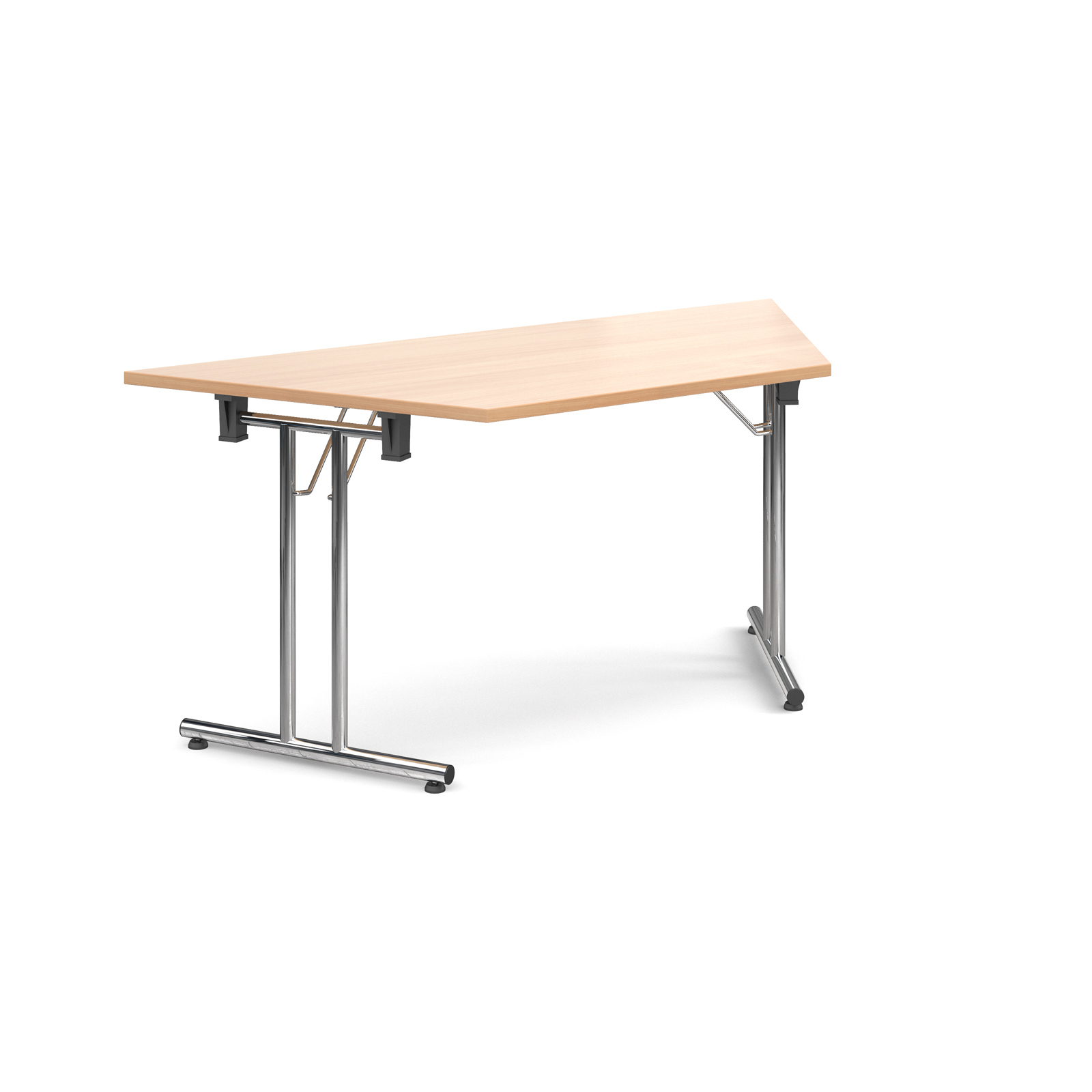 Trapezoidal deluxe folding leg table 1600mm x 800mm - beech