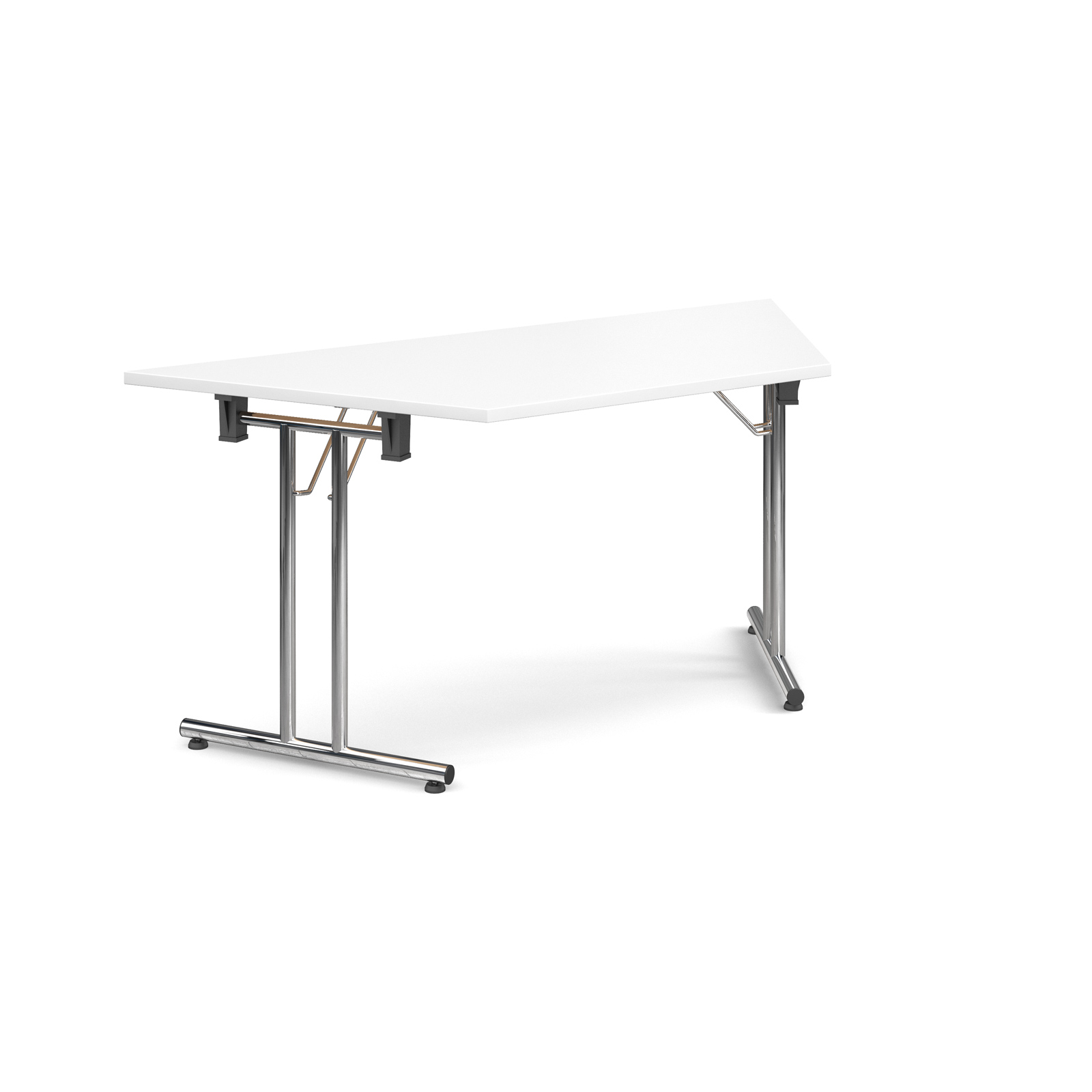 Trapezoidal deluxe folding leg table 1600mm x 800mm - white