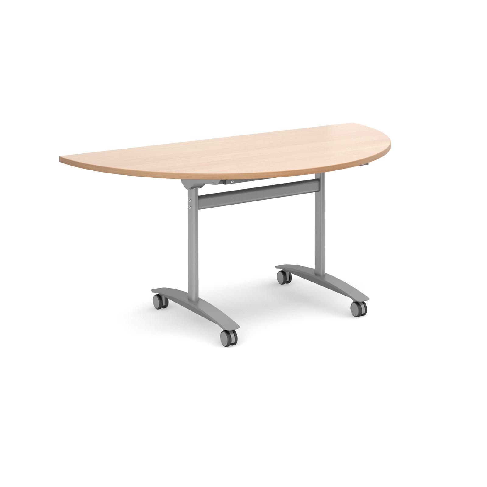 Semi Circular Fliptop Meeting Table