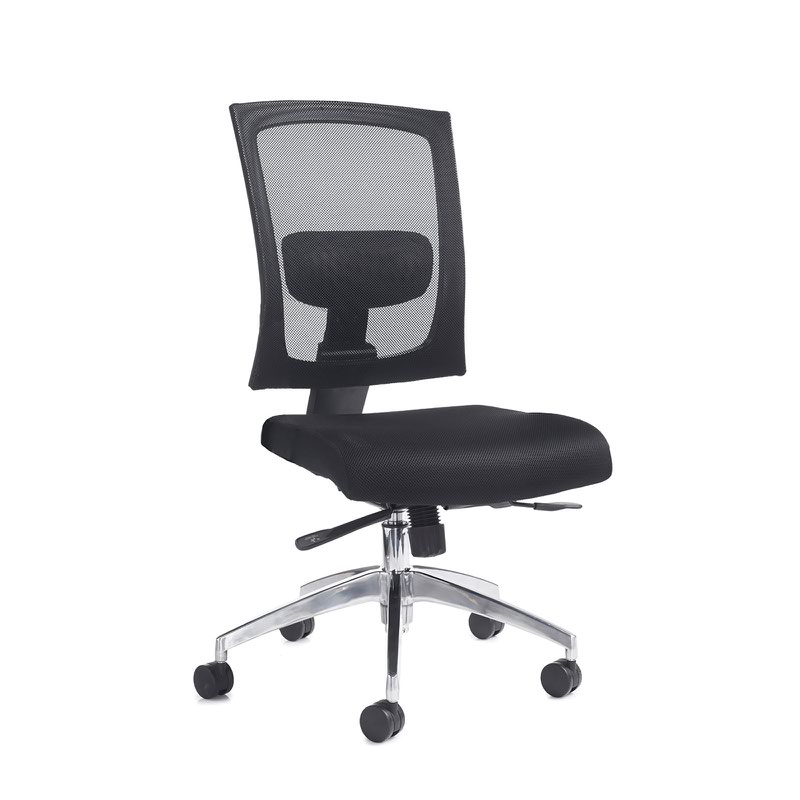 Gemini 300 series mesh task chair with no arms - black