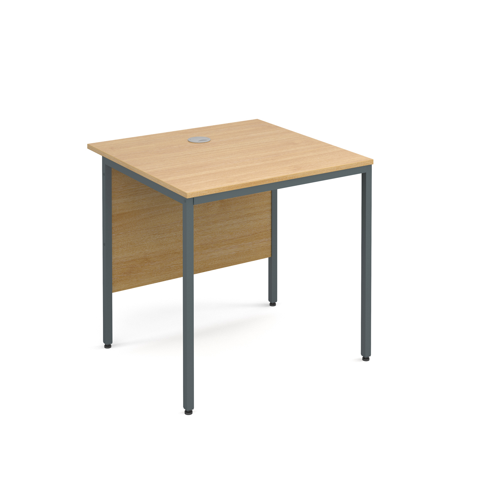 Maestro H frame straight desk 754mm - oak