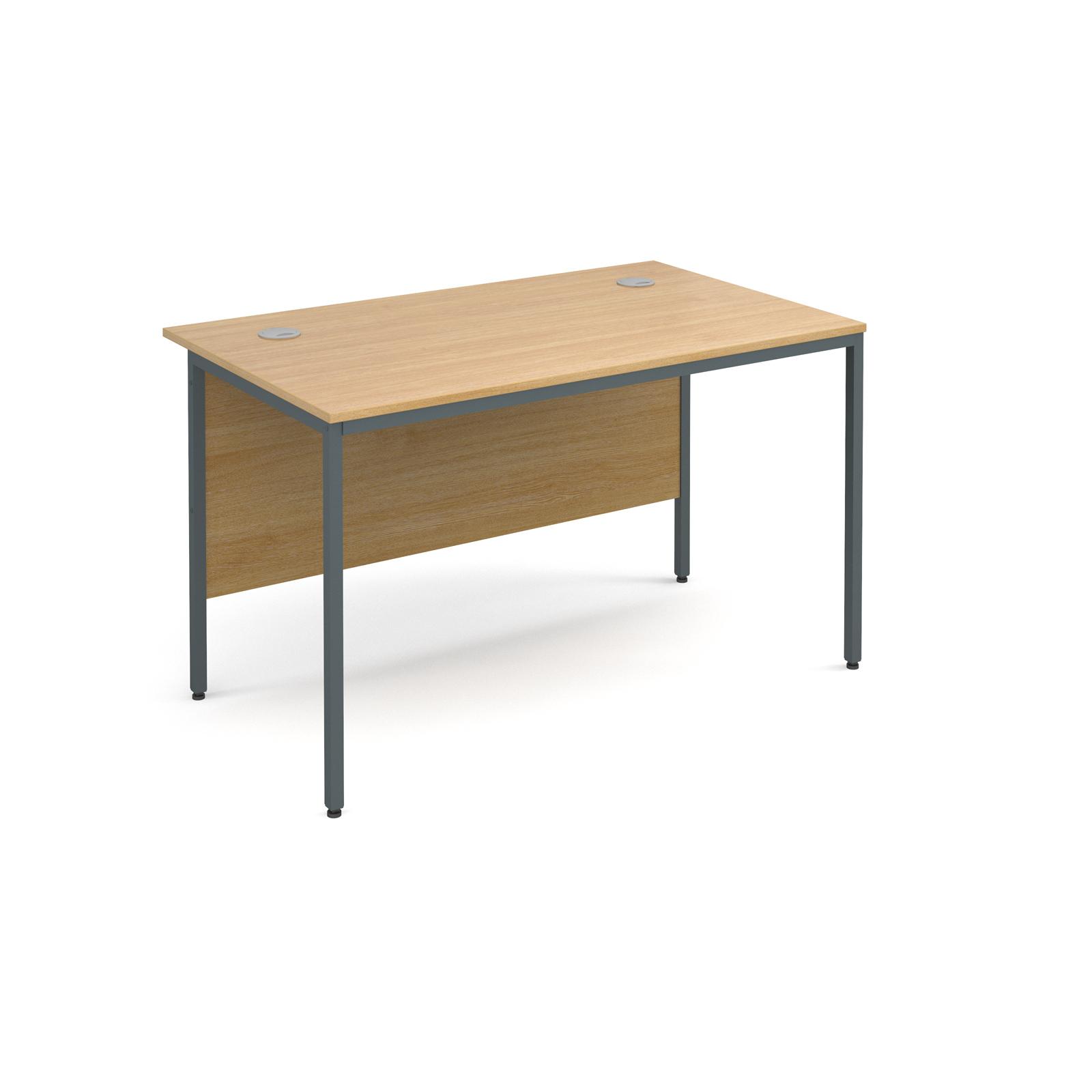 Maestro H frame straight desk 1228mm - oak