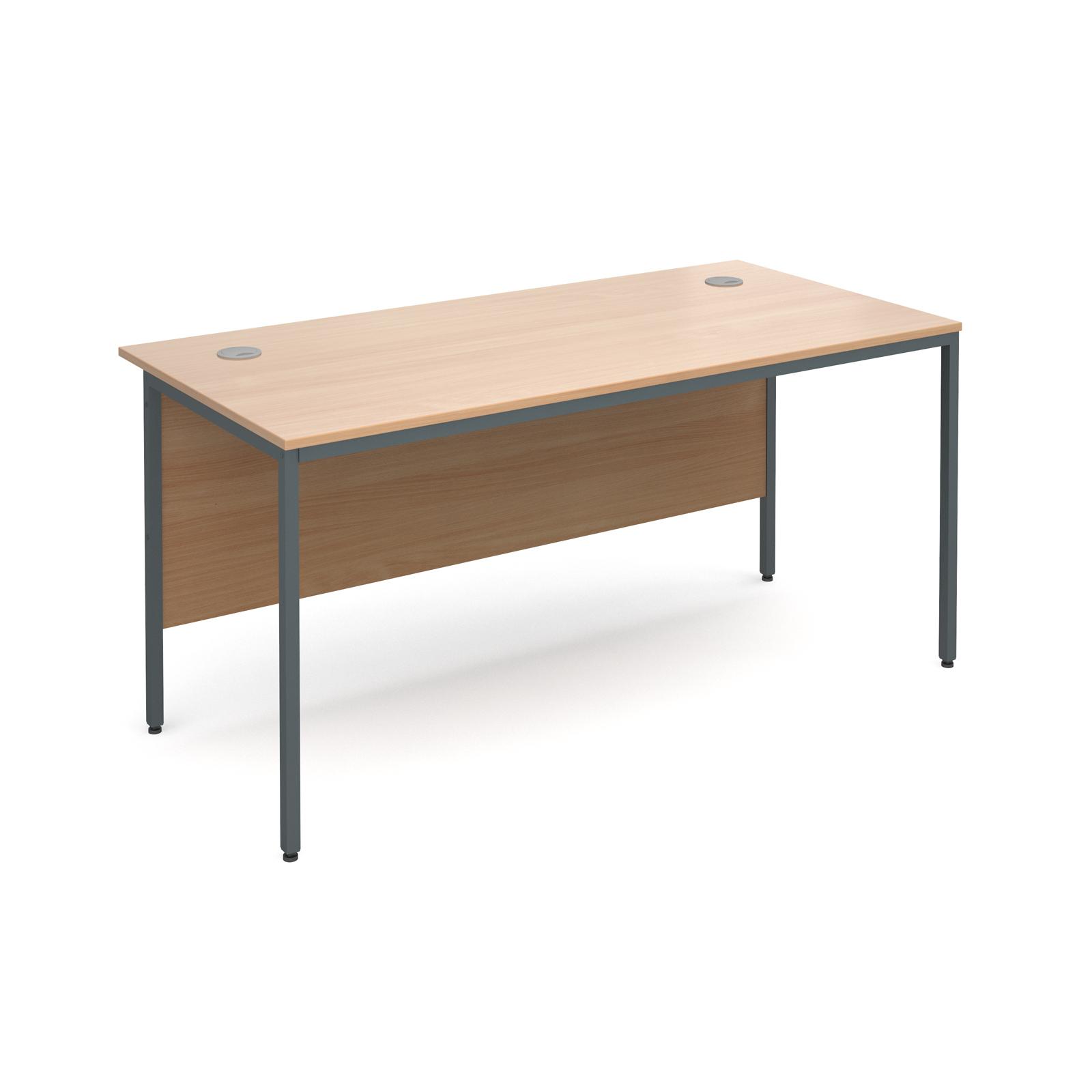 Maestro H frame straight desk 1532mm - beech