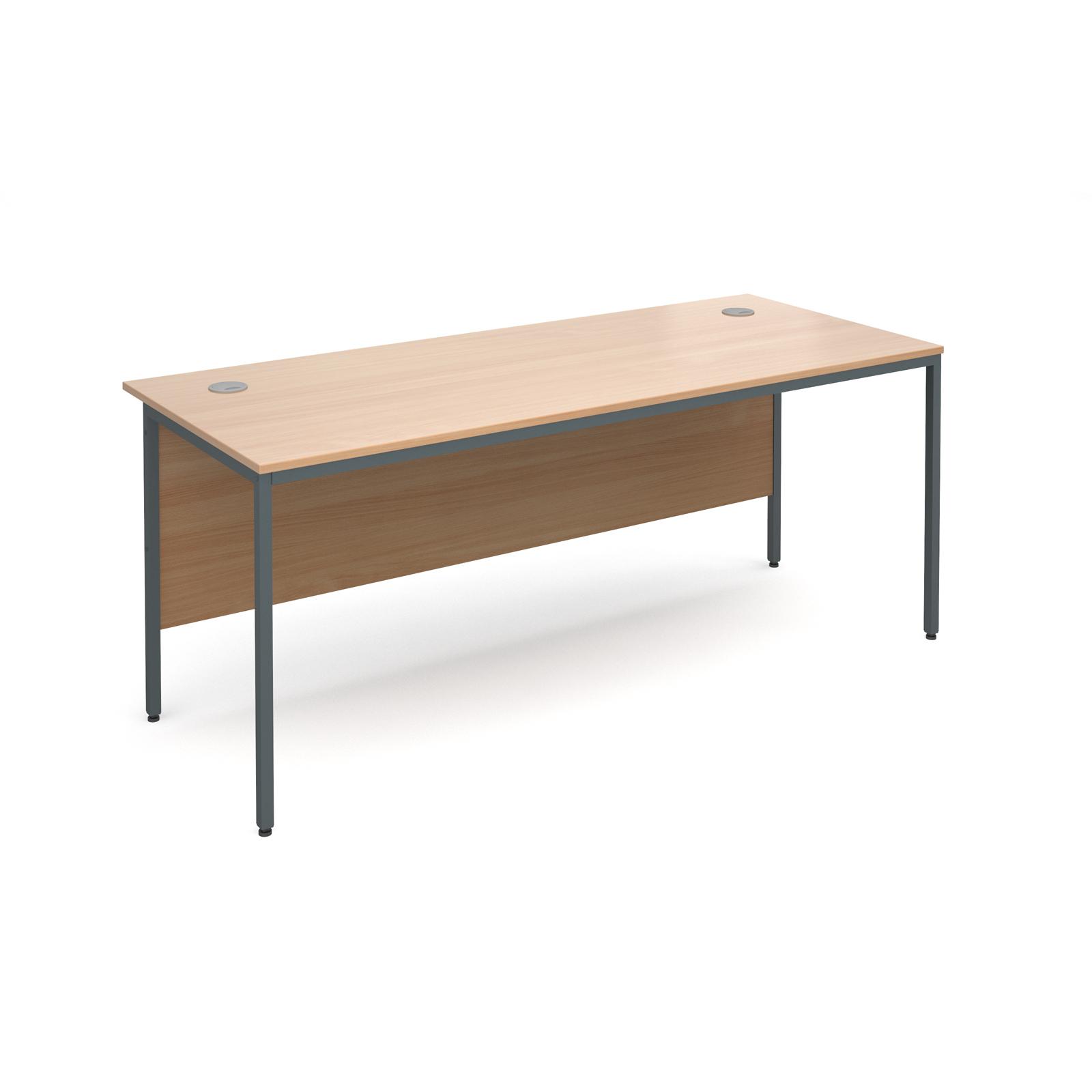 Maestro H frame straight desk 1786mm - beech