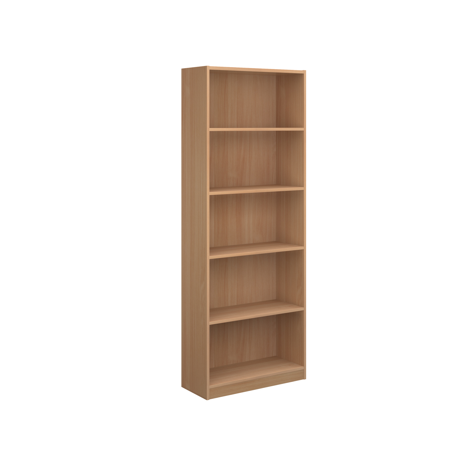 Economy bookcase 2004mm high with 4 shelves - beech