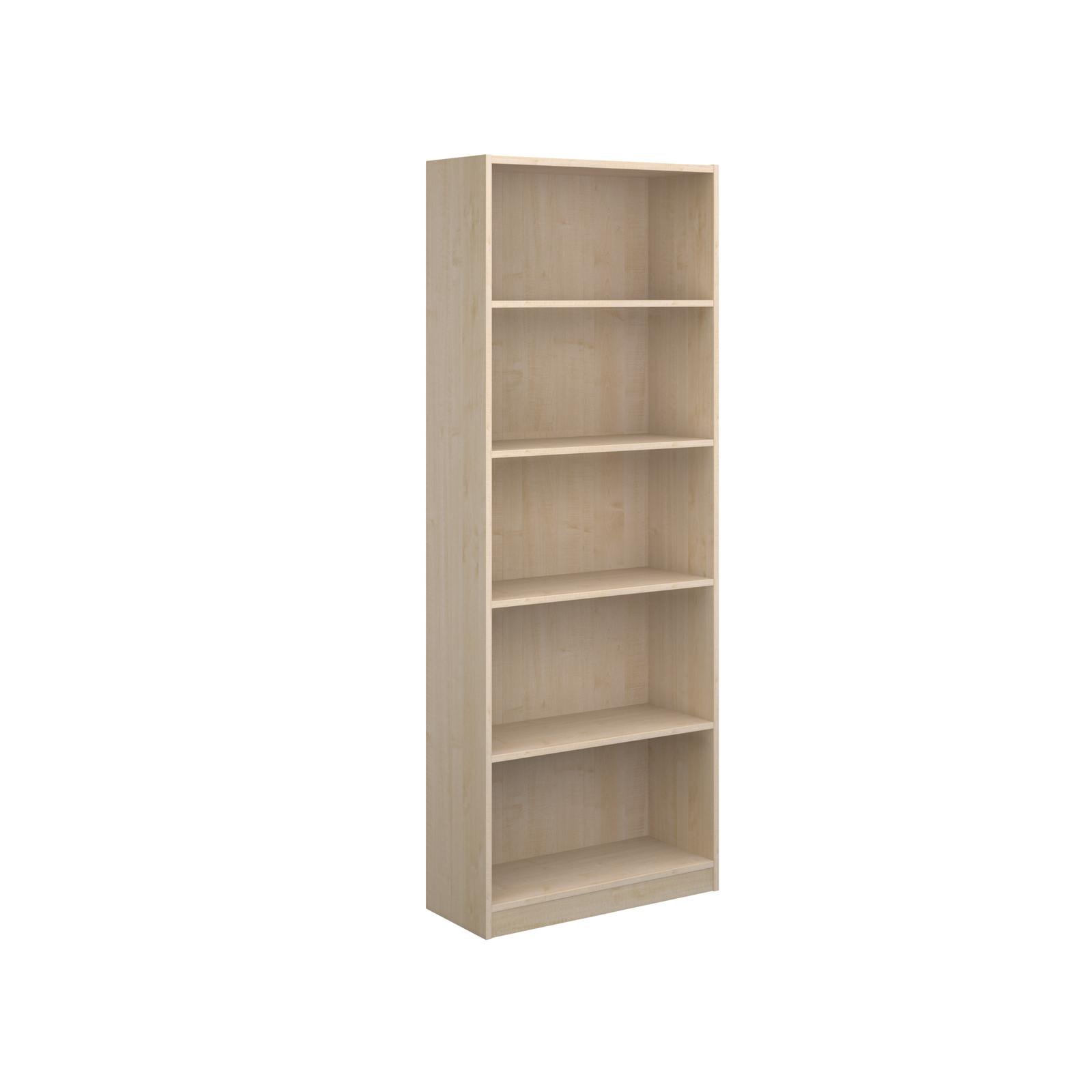 Economy bookcase 2004mm high with 4 shelves - maple