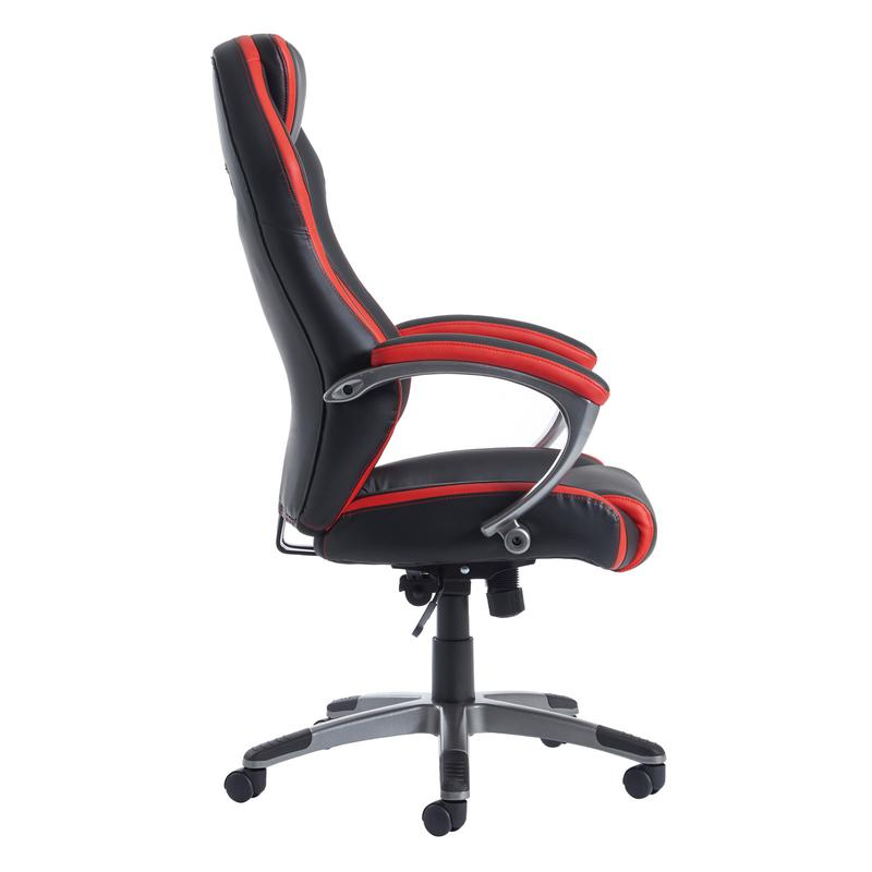 Jensen High Back Executive Chair Black And Red