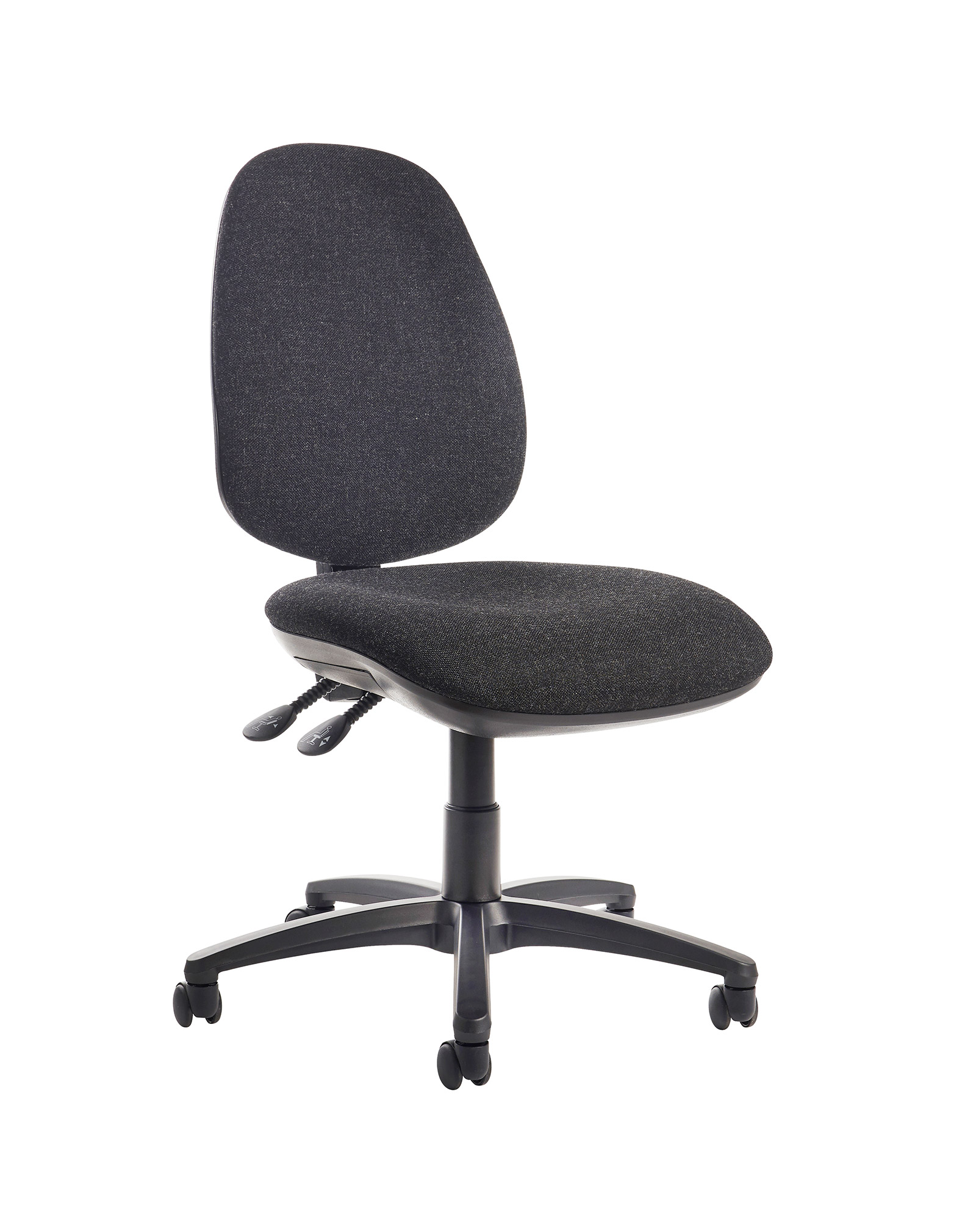 Jota high back operator chair with no arms - charcoal